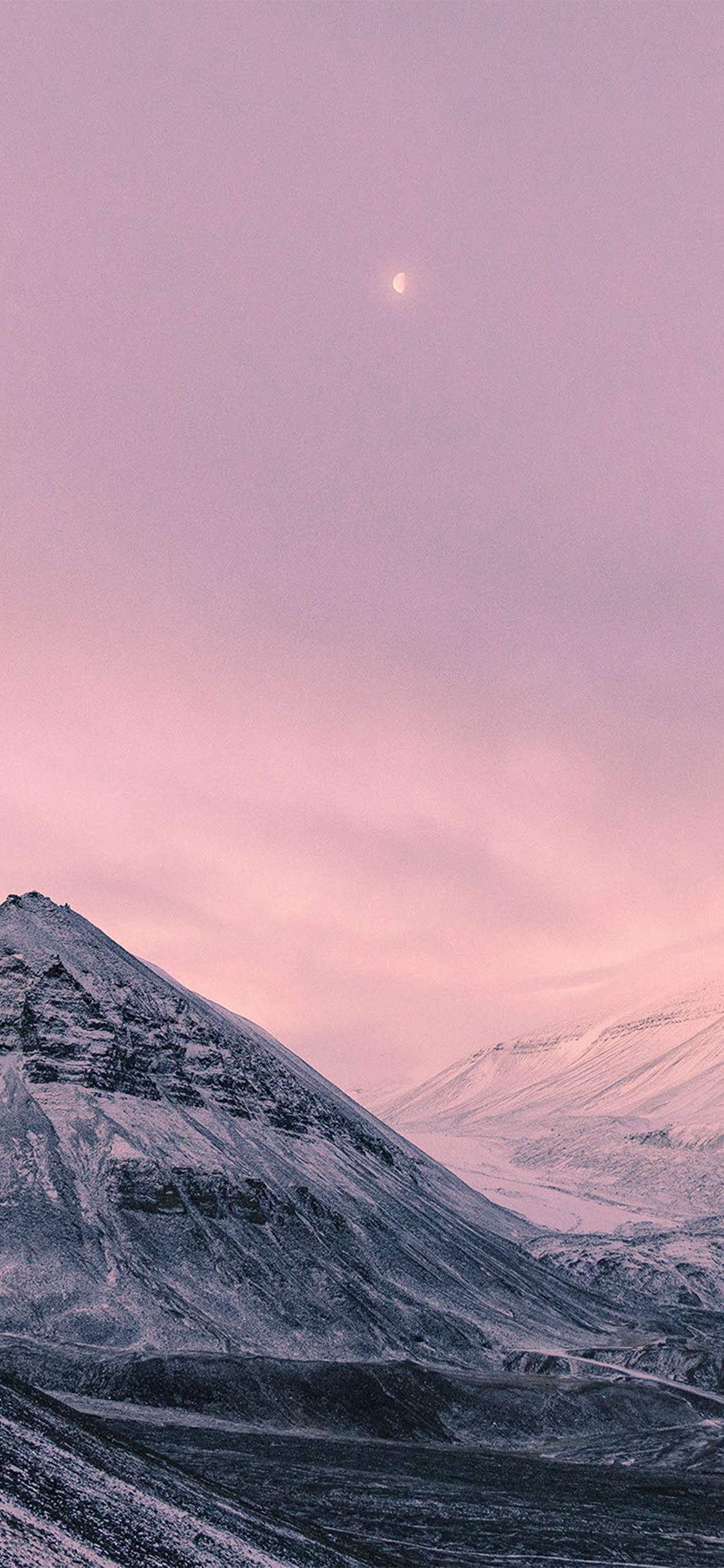 iPhonexpapers.com-Apple-iPhone-wallpaper-nz64-snow-winter-moon-mountain-nature-pink