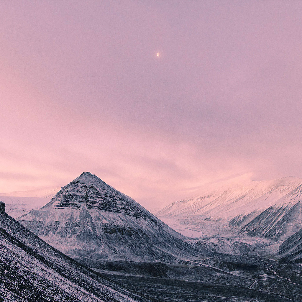android-wallpaper-nz64-snow-winter-moon-mountain-nature-pink-wallpaper