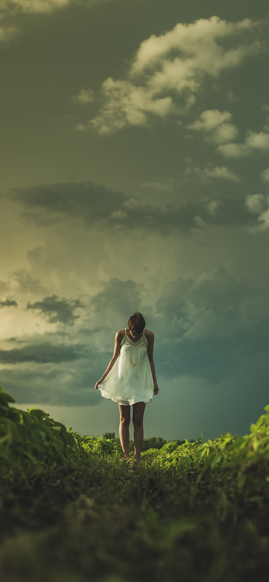 iPhonexpapers.com-Apple-iPhone-wallpaper-nz86-field-girl-cloud-summer-dress-nature