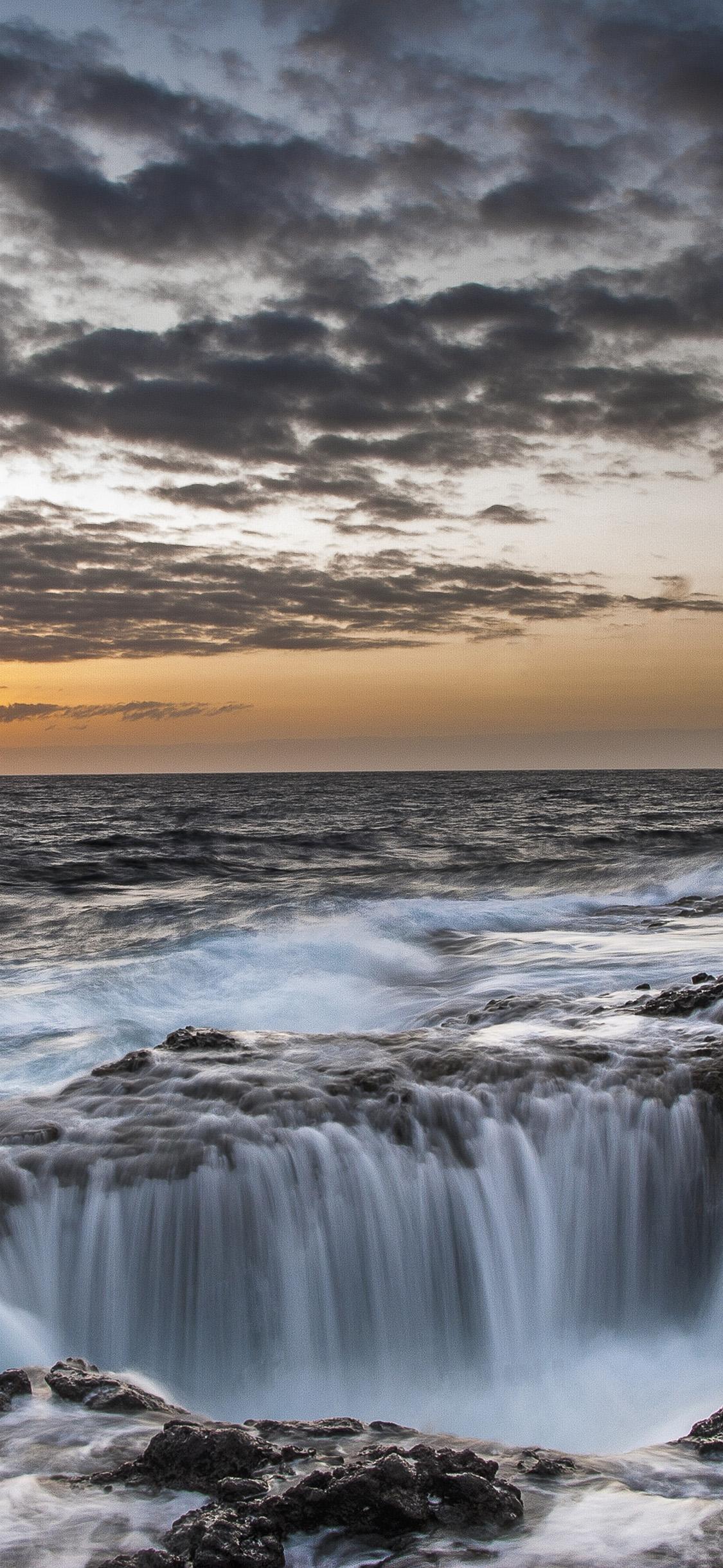 iPhonexpapers.com-Apple-iPhone-wallpaper-oa32-waterfall-sea-ocean-nature