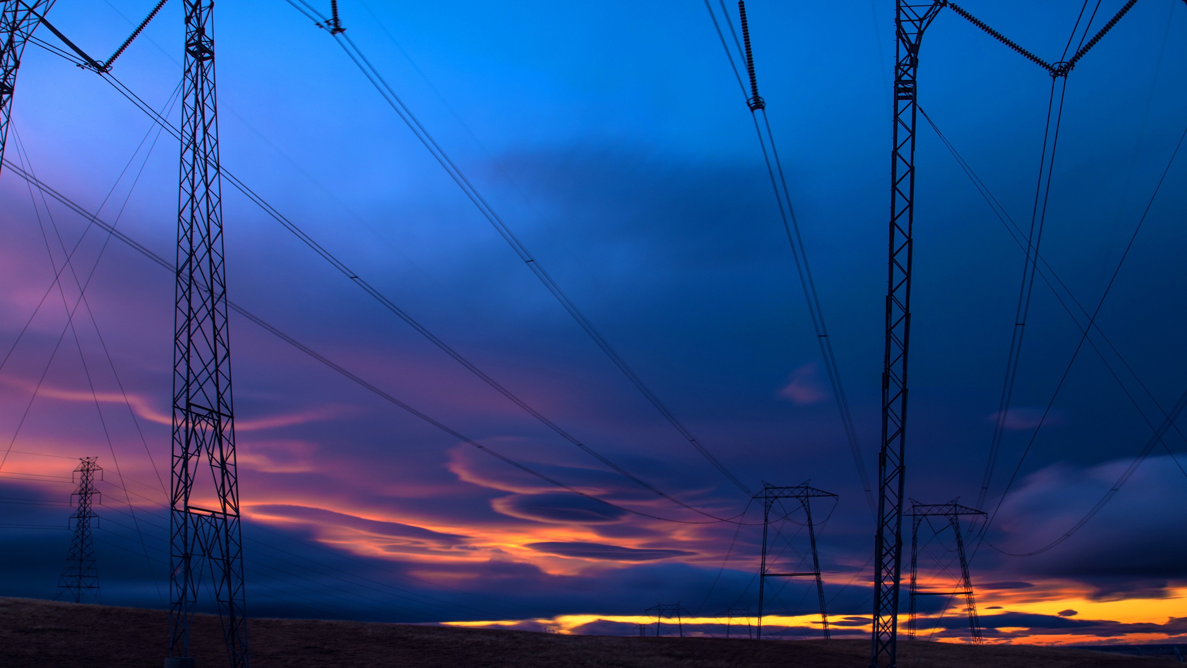 Ob04 Sunset Electric Night Nature Wallpaper