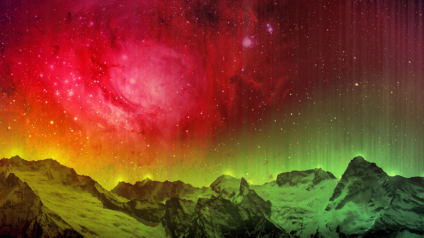 wallpaper-desktop-laptop-mac-macbook-ob31-mountain-aurora-sky-red-nature
