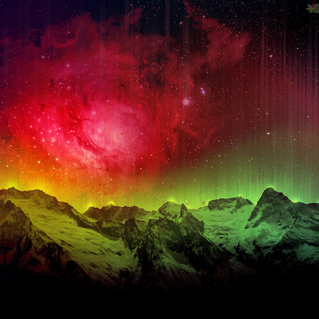 android-wallpaper-ob31-mountain-aurora-sky-red-nature-wallpaper