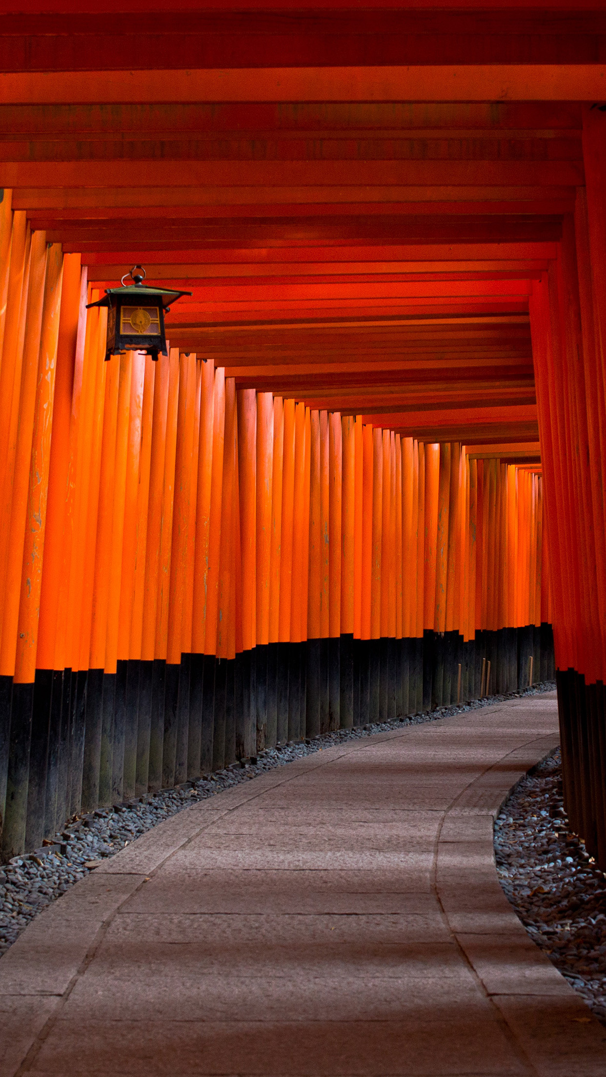 Oc56 Japan Architecture Red Nature Wallpaper