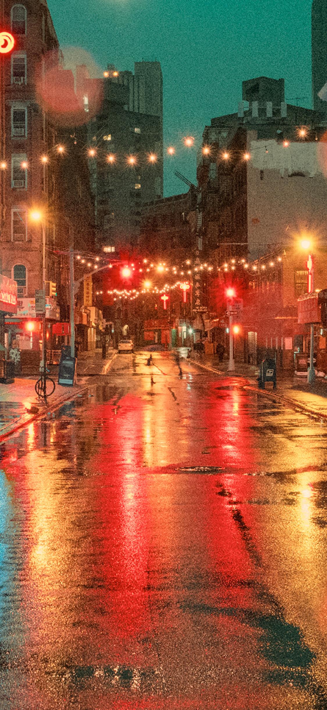iPhonexpapers.com-Apple-iPhone-wallpaper-od57-nature-street-city-light-red-rain