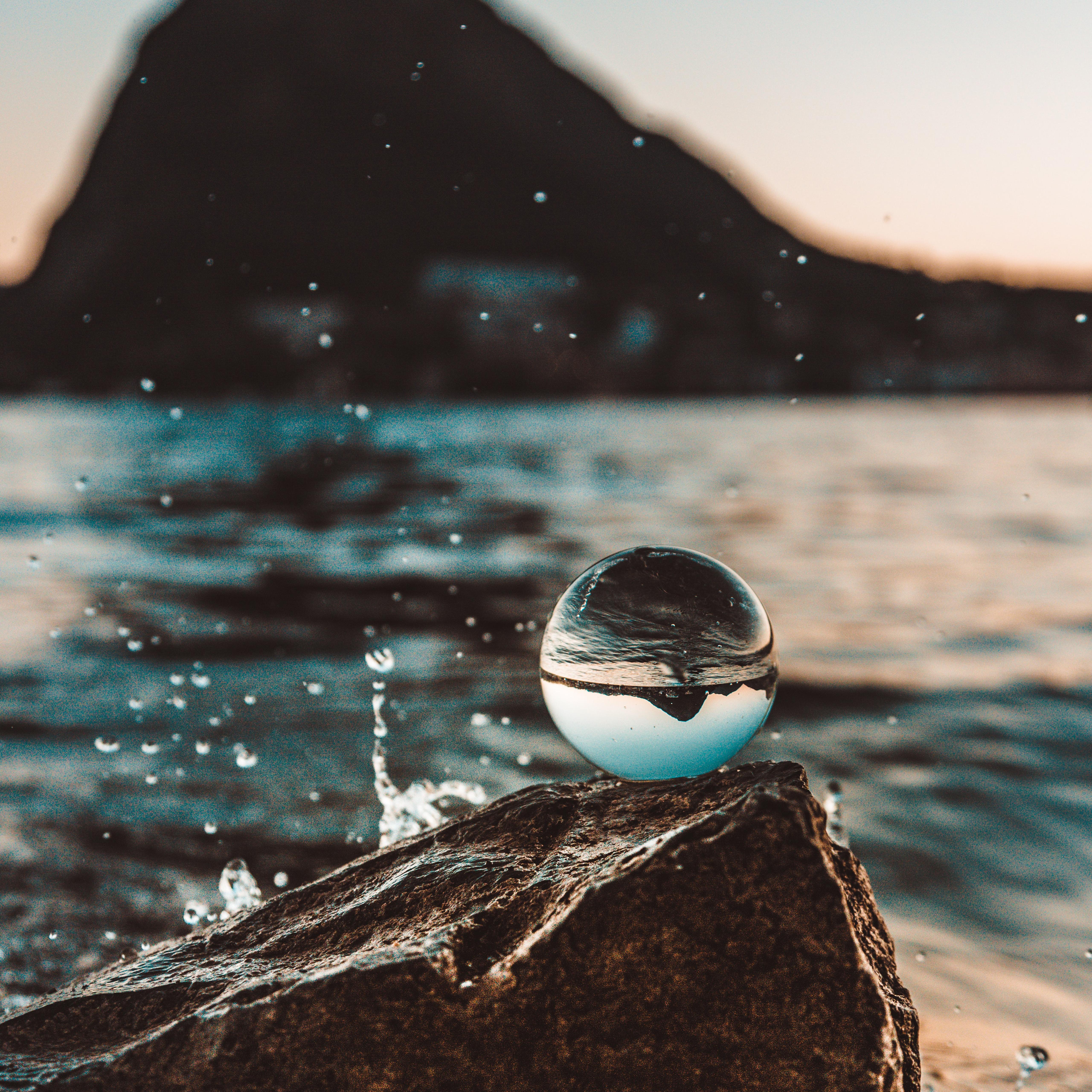 Od82 Nature Sea Water Drop Photo Sunset Wallpaper