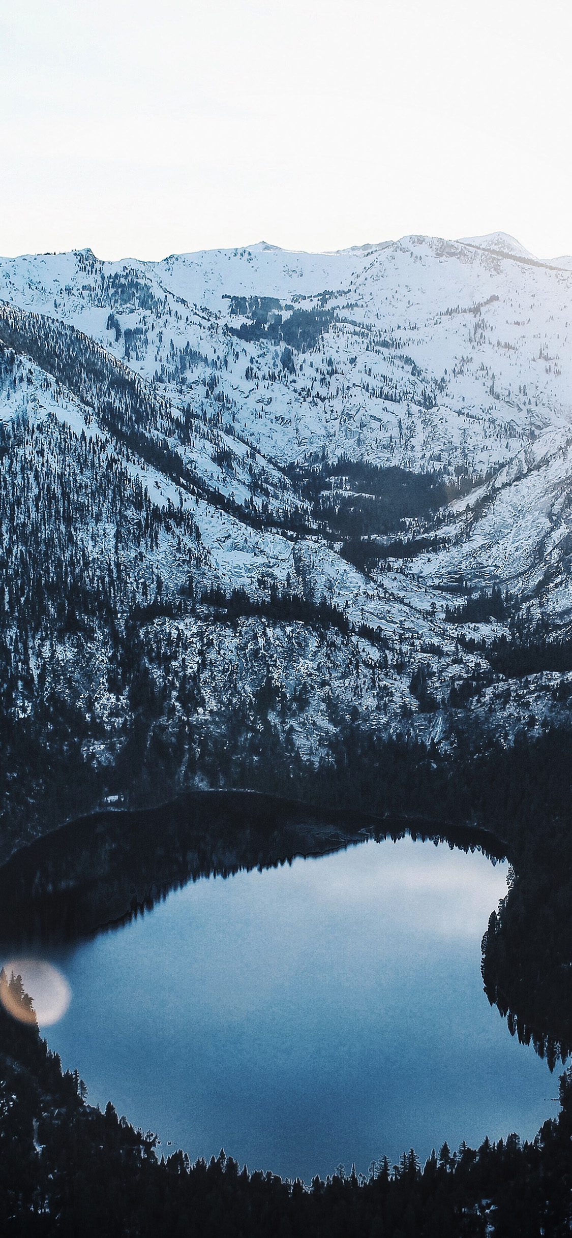 Iphone11papers Com Iphone11 Wallpaper Oe95 Nature Cold Winter Lake Mountain