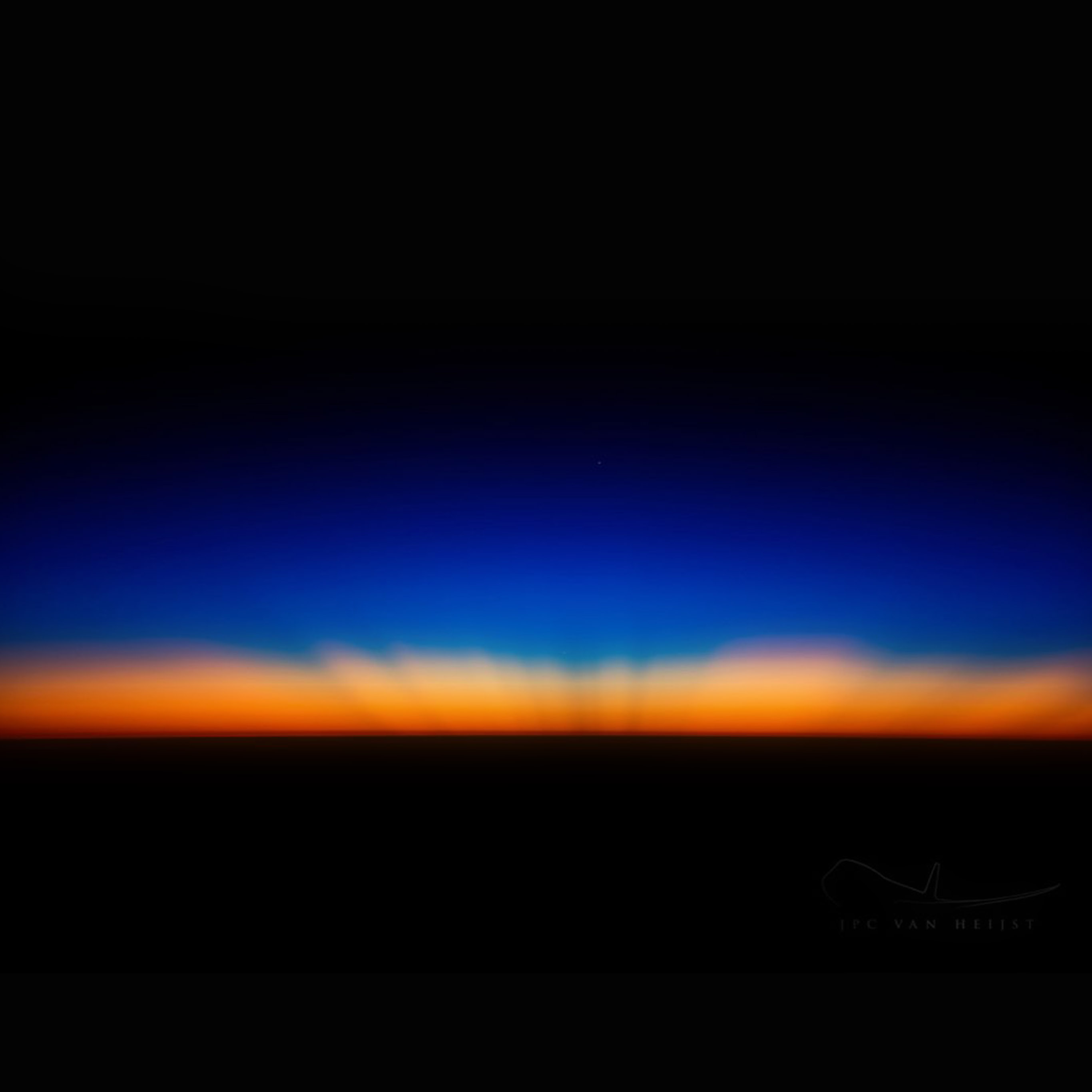 Sk35 Sunset Dark Red Blue Horizontal Blur Gradation Wallpaper