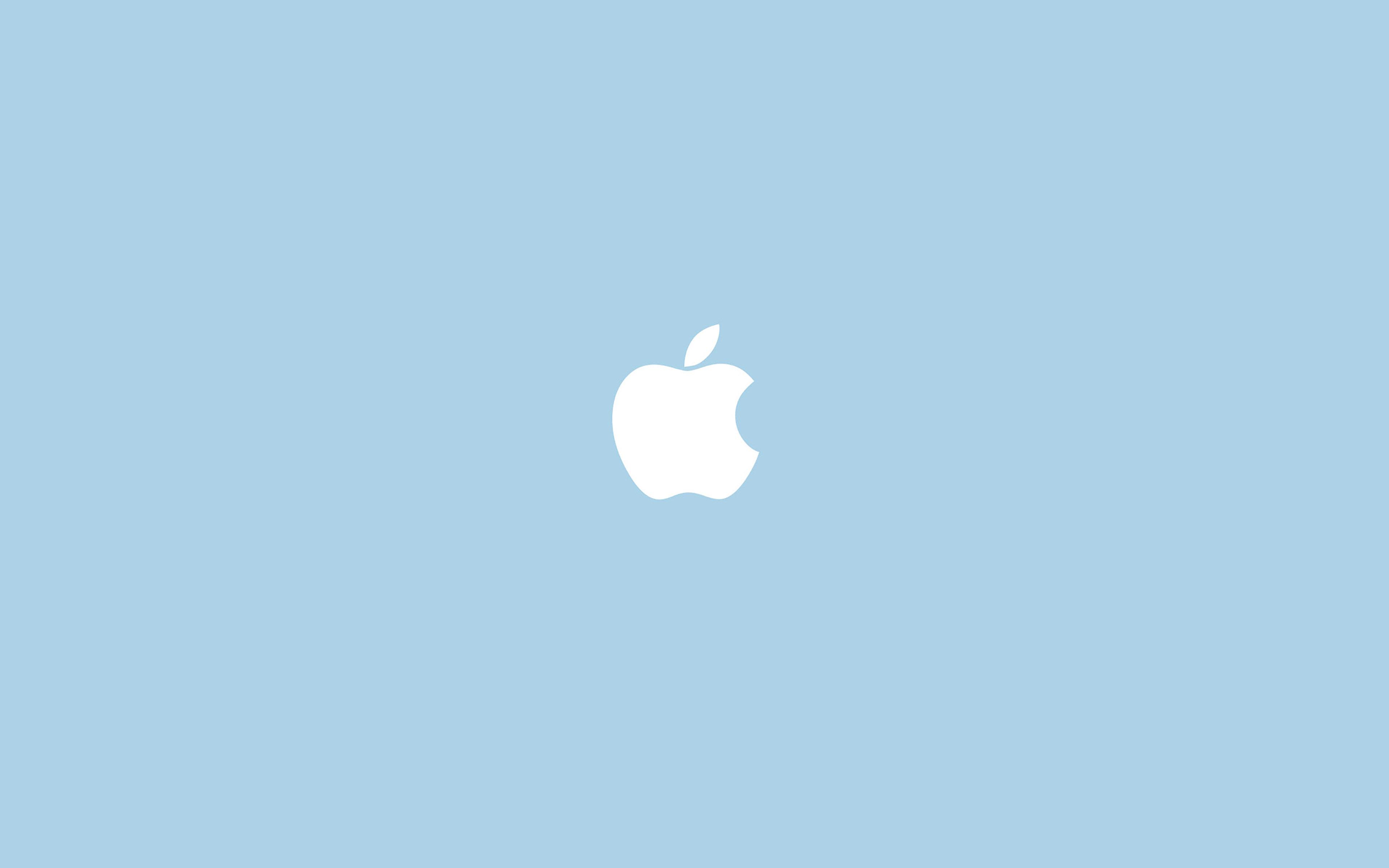 Simple Minimalist Ipad Wallpaper: Va12-apple-simple-logo-blue-minimal