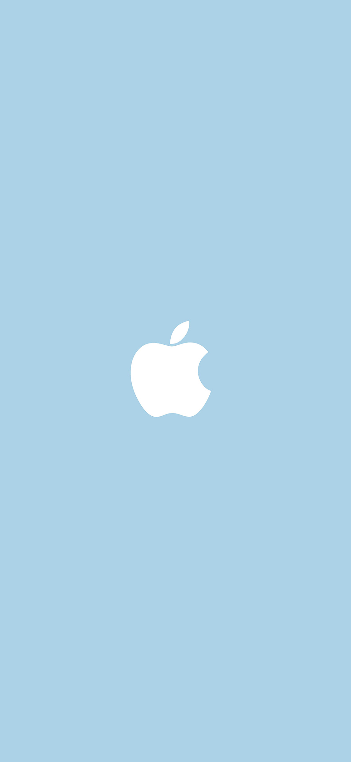 iPhoneXpapers.com-Apple-iPhone-wallpaper-va12-apple-simple-logo-blue-minimal