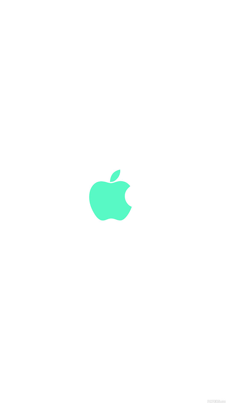 iPhonepapers.com-Apple-iPhone8-wallpaper-va14-apple-simple-logo-color-green-minimal
