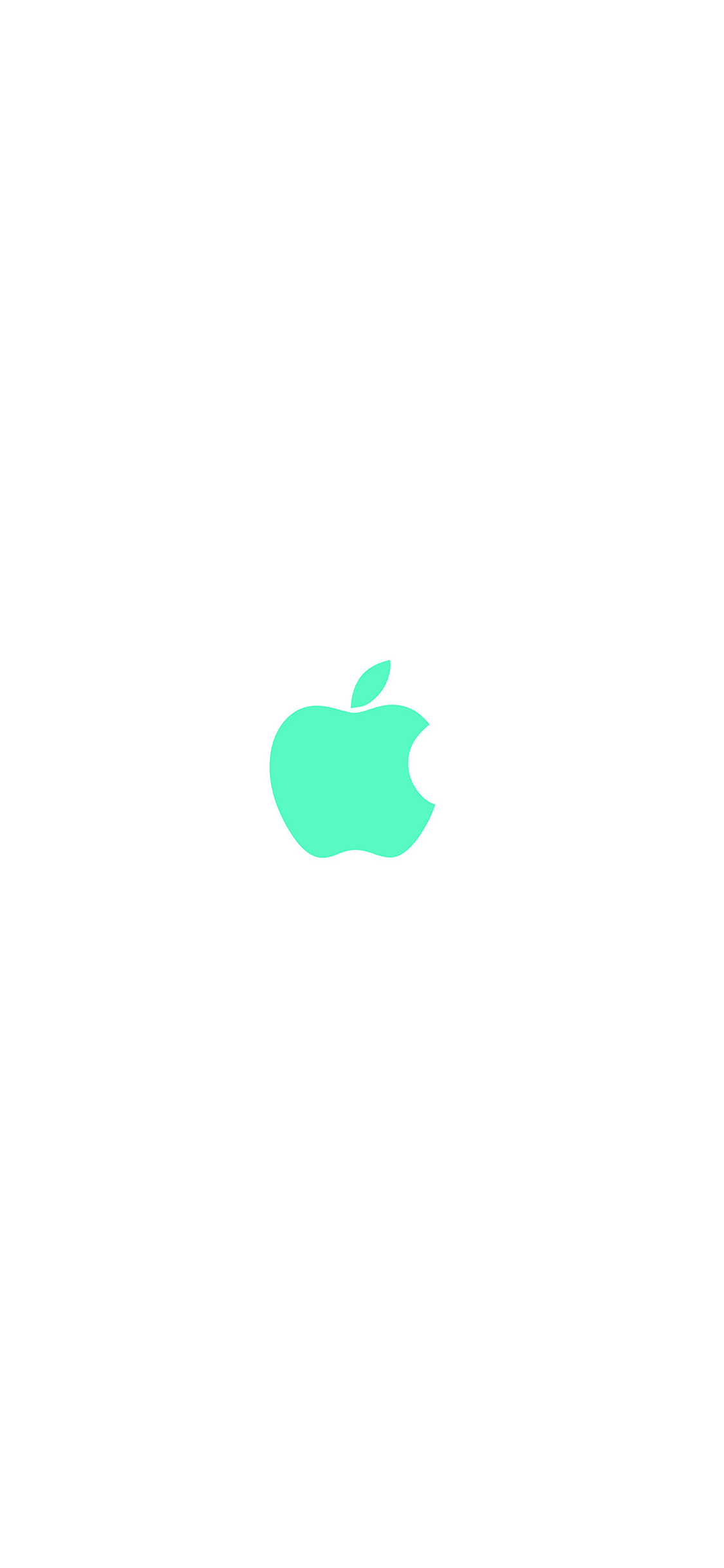 iPhoneXpapers.com-Apple-iPhone-wallpaper-va14-apple-simple-logo-color-green-minimal