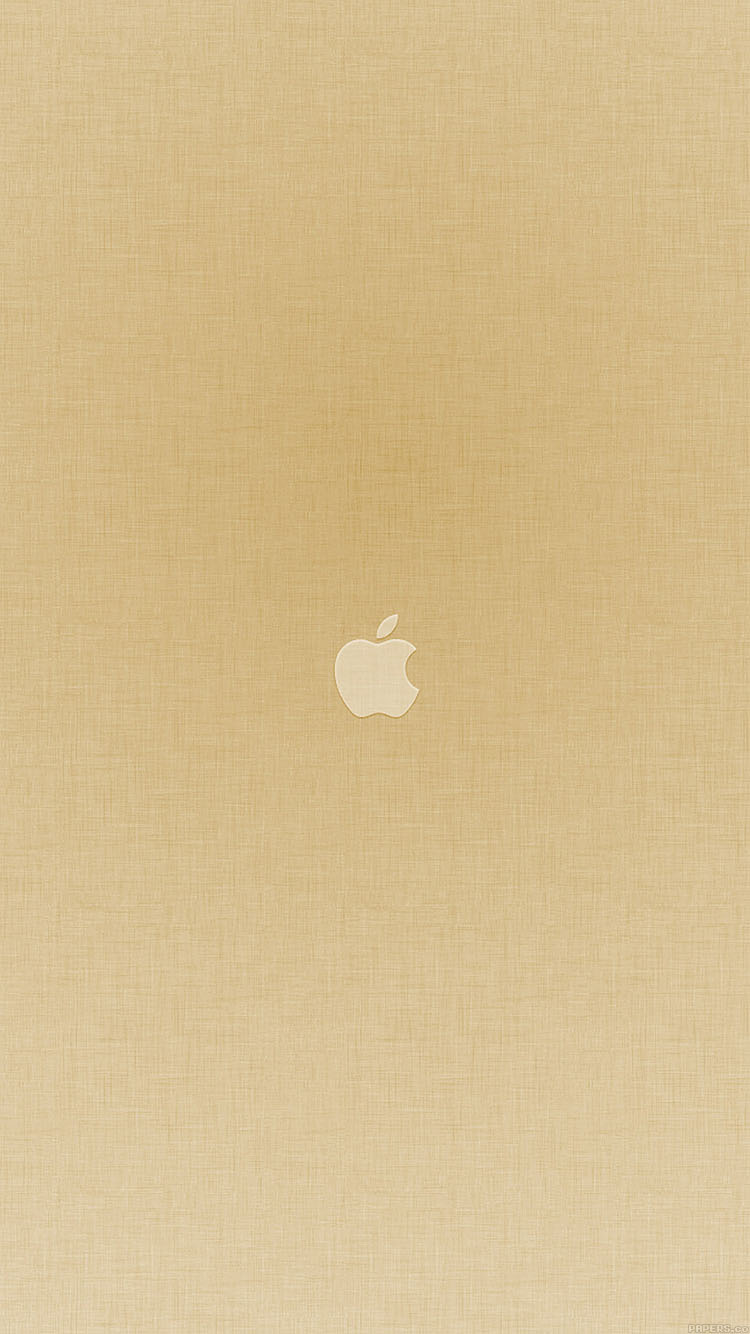 Papers Co Iphone Wallpaper Va19 Tiny Apple Gold Minimal