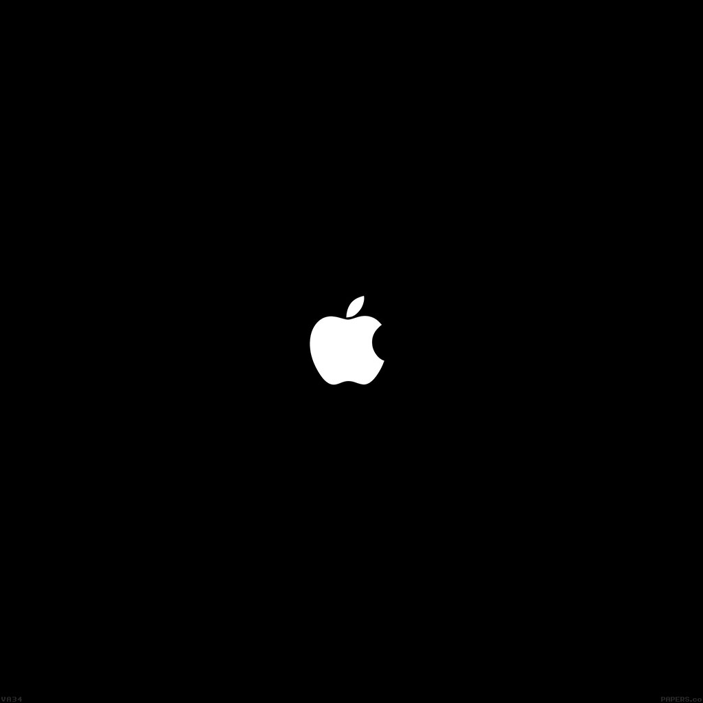 android-wallpaper-va34-simple-apple-logo-black-minimal-wallpaper