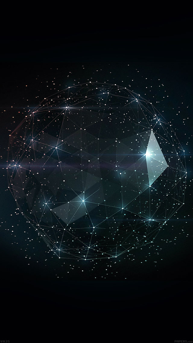 freeios8.com-iphone-4-5-6-ipad-ios8-va35-shiny-triangle-cage-pattern