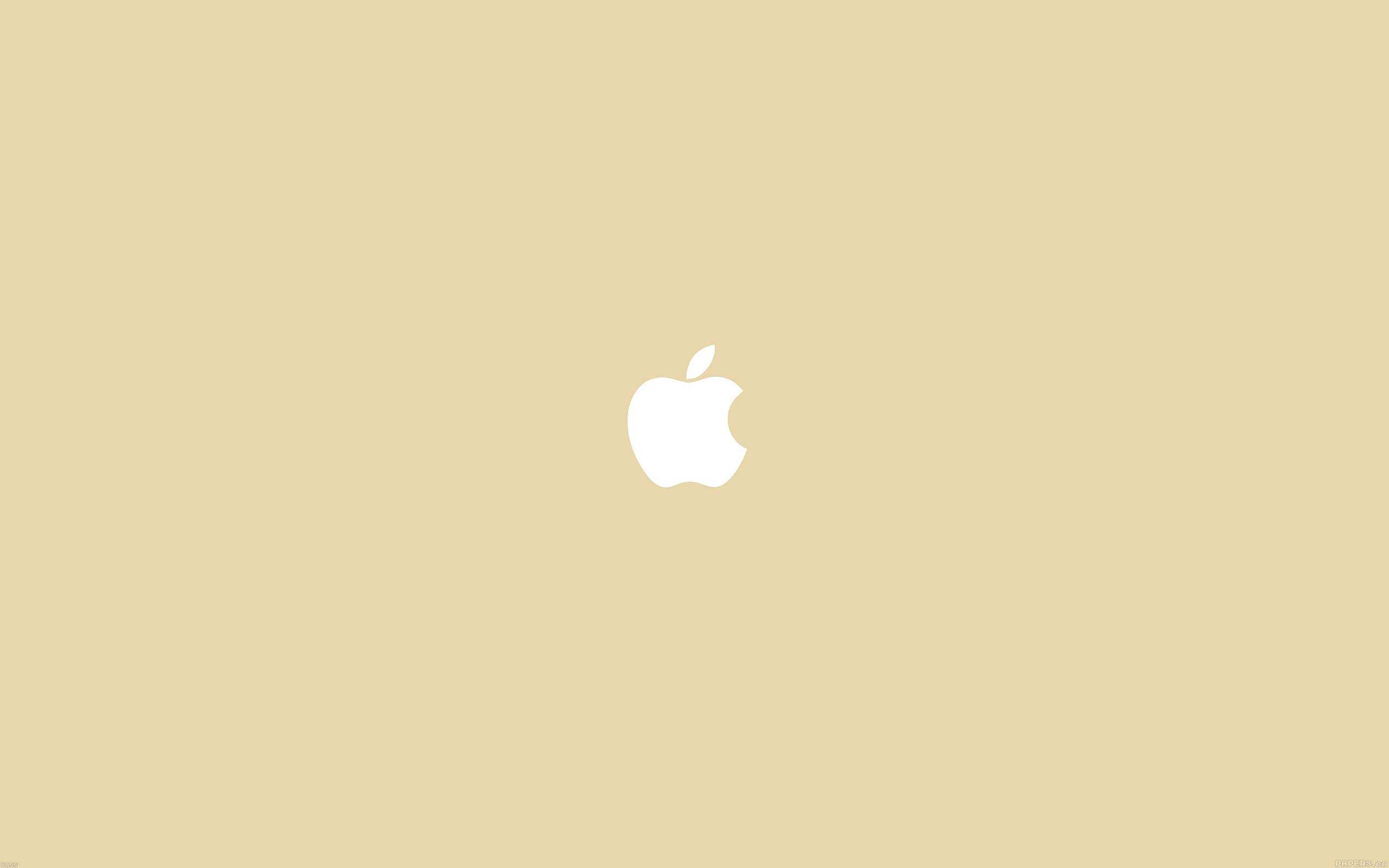 Ipapers Co Va55 Simple Apple Logo Gold Minimal
