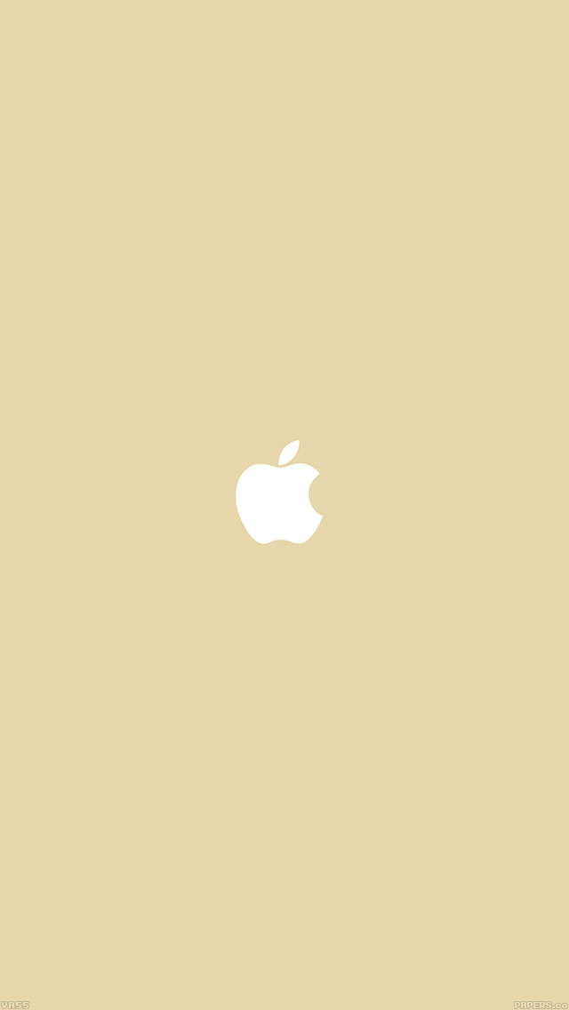 freeios8.com-iphone-4-5-6-ipad-ios8-va55-simple-apple-logo-gold-minimal