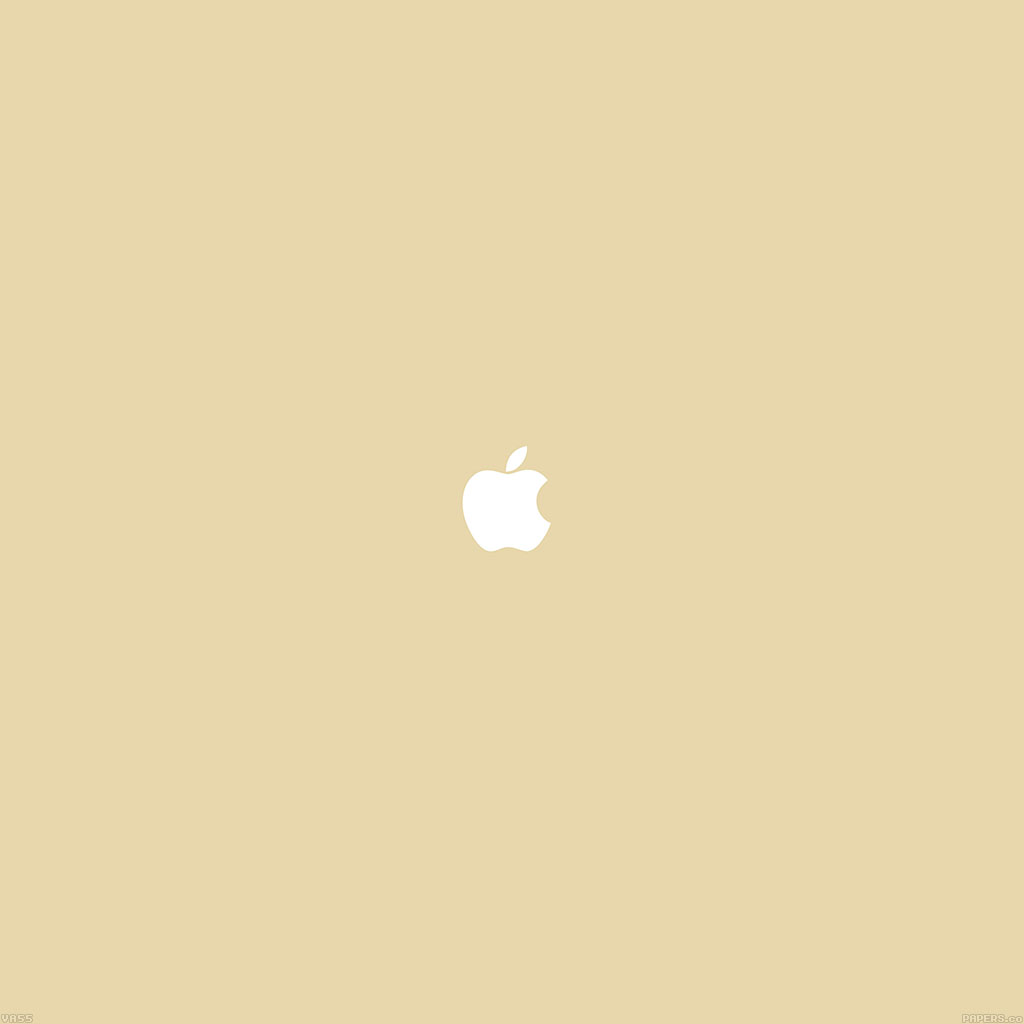 AndroidPapers co - va55-simple-apple-logo-gold-minimal