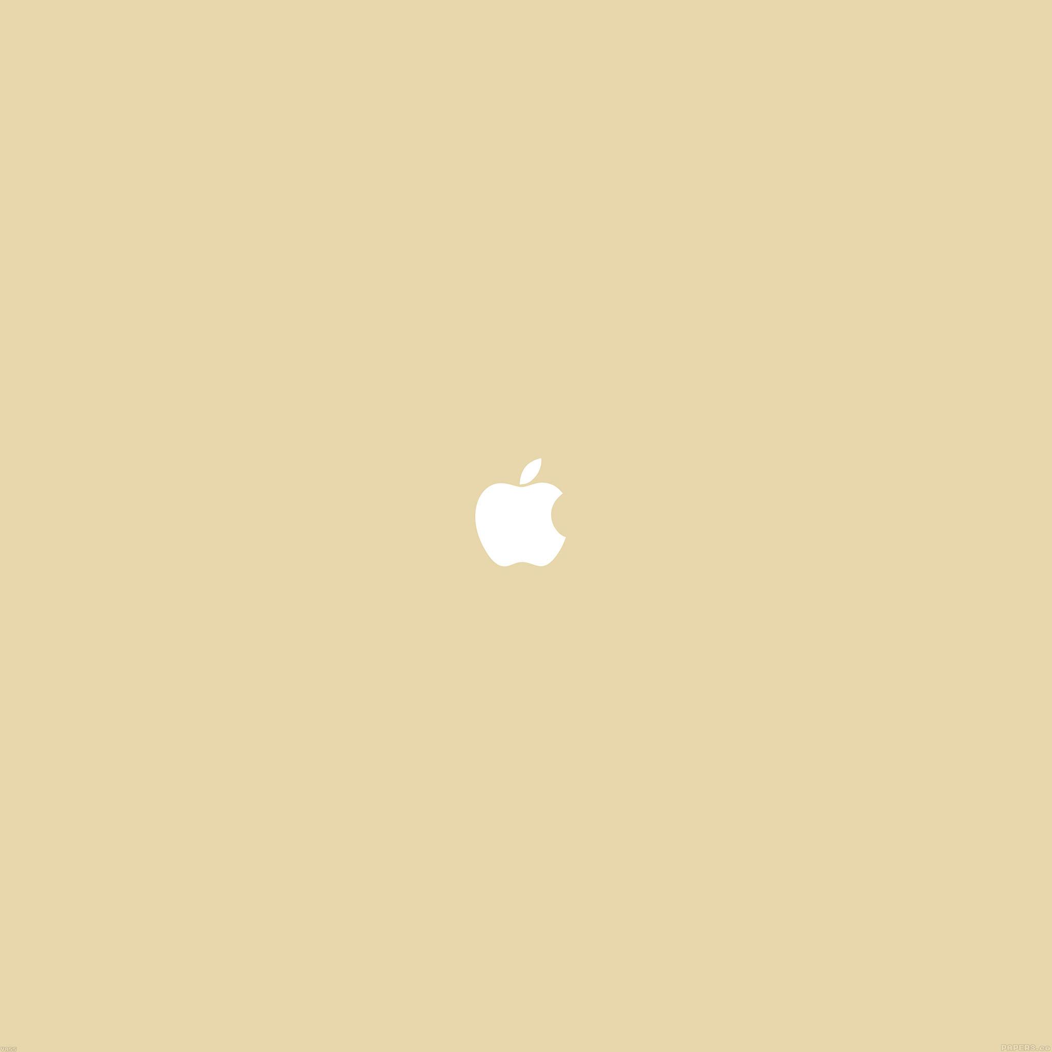 Va55 Simple Apple Logo Gold Minimal