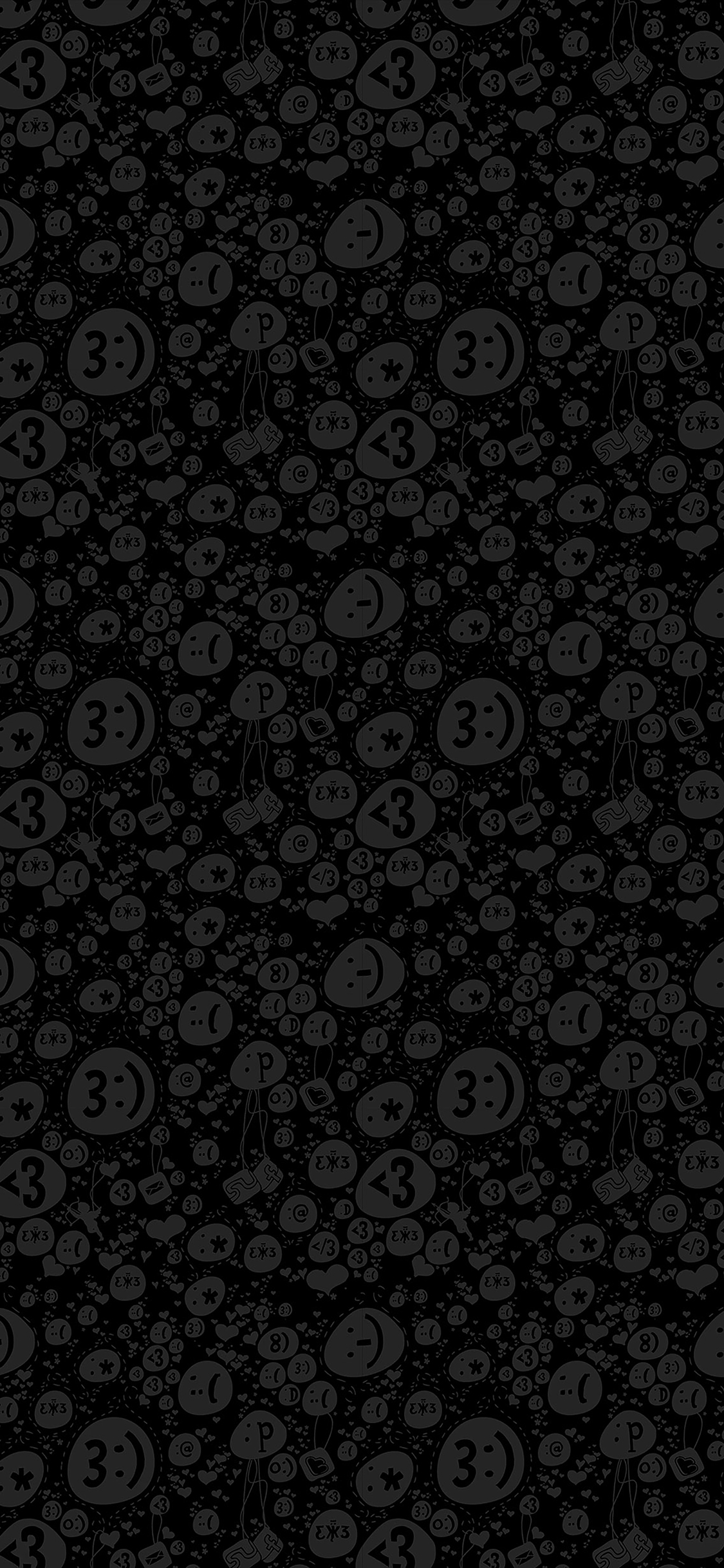 iPhoneXpapers.com-Apple-iPhone-wallpaper-va81-wallpaper-emoticon-charms-bw-pattern