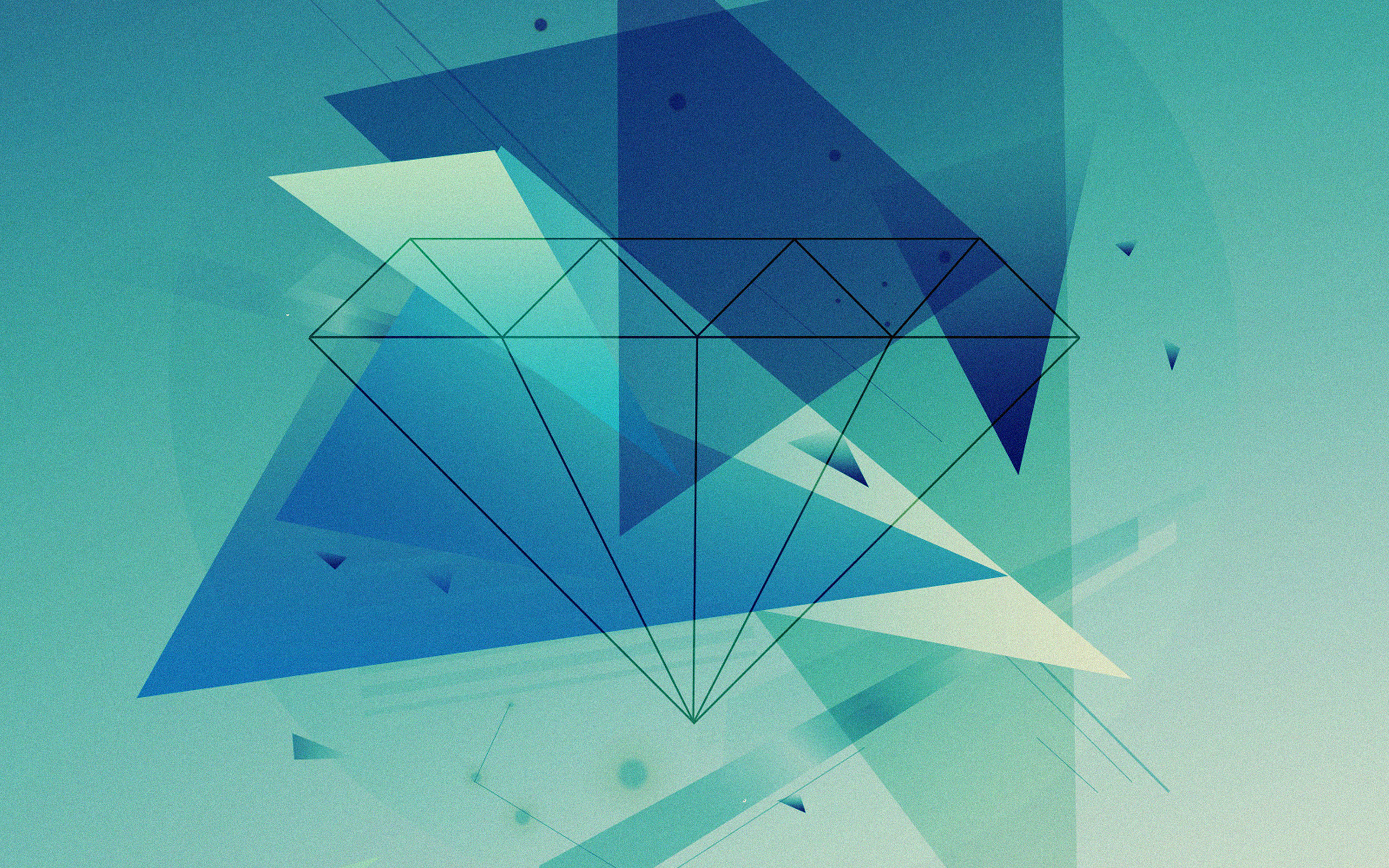 Vb89 Wallpaper Diamond Blue Illust Graphic Art Wallpaper