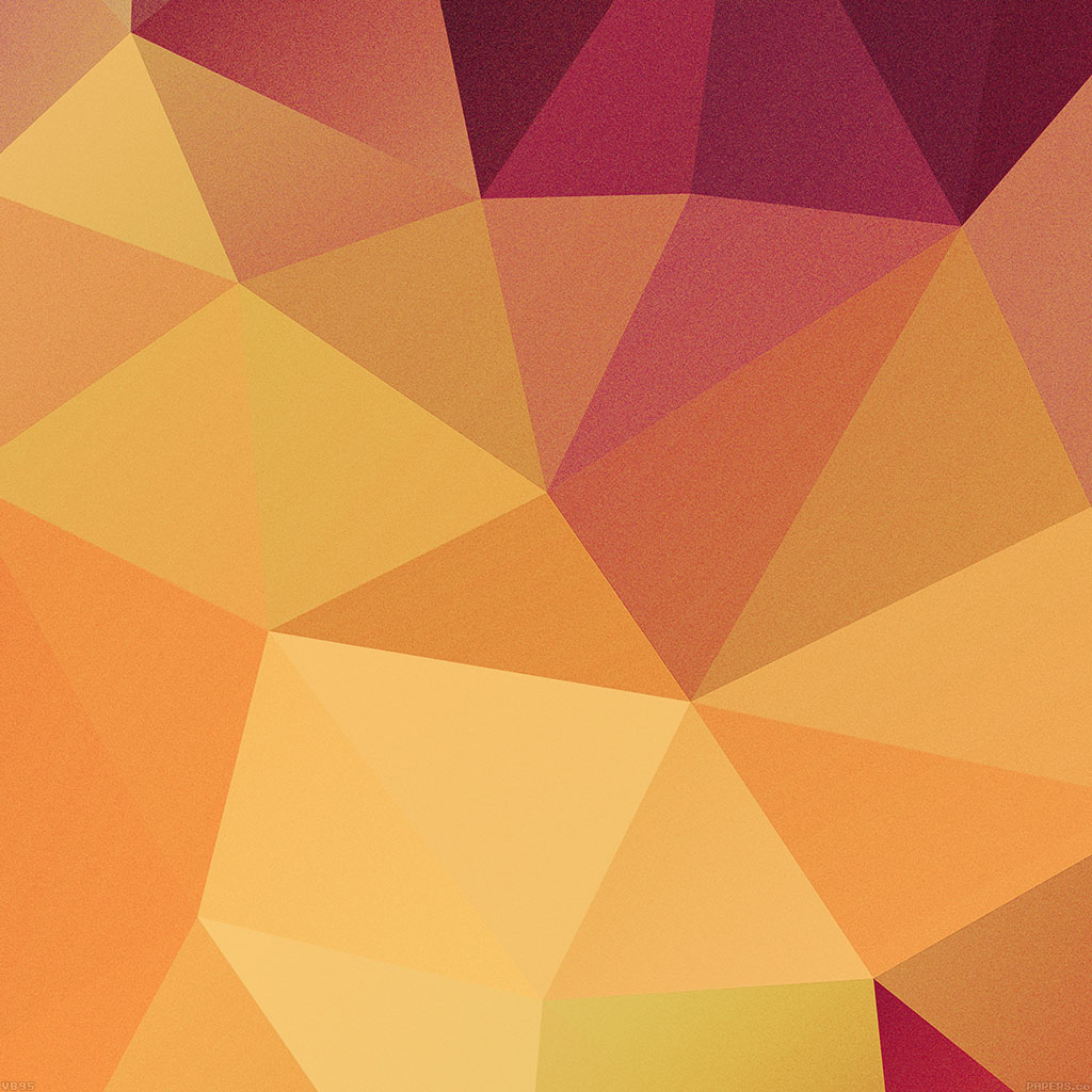 Vb95 Wallpaper Blocks Of Orange Triangles Pattern