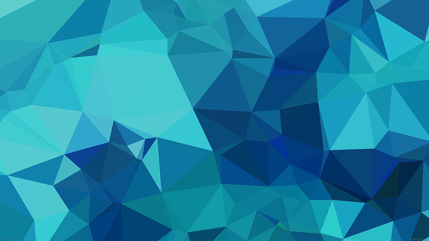 Wallpaper For Desktop Laptop Vc96 Triangle Of Blue Patterns