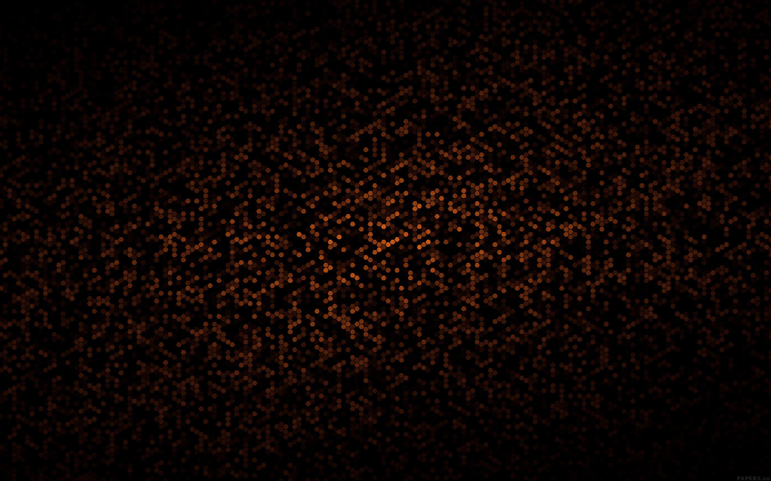 papers.co ve25 dots pattern black and orange abstract 23 wallpaper