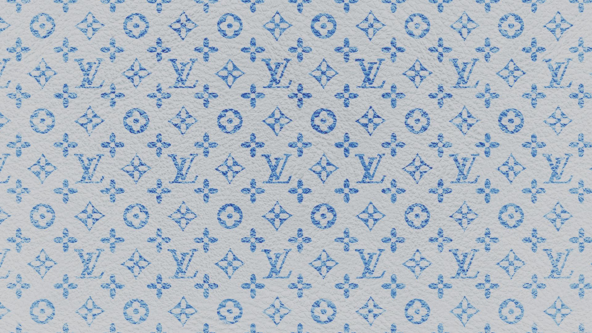 vf21 louis vuitton blue pattern art