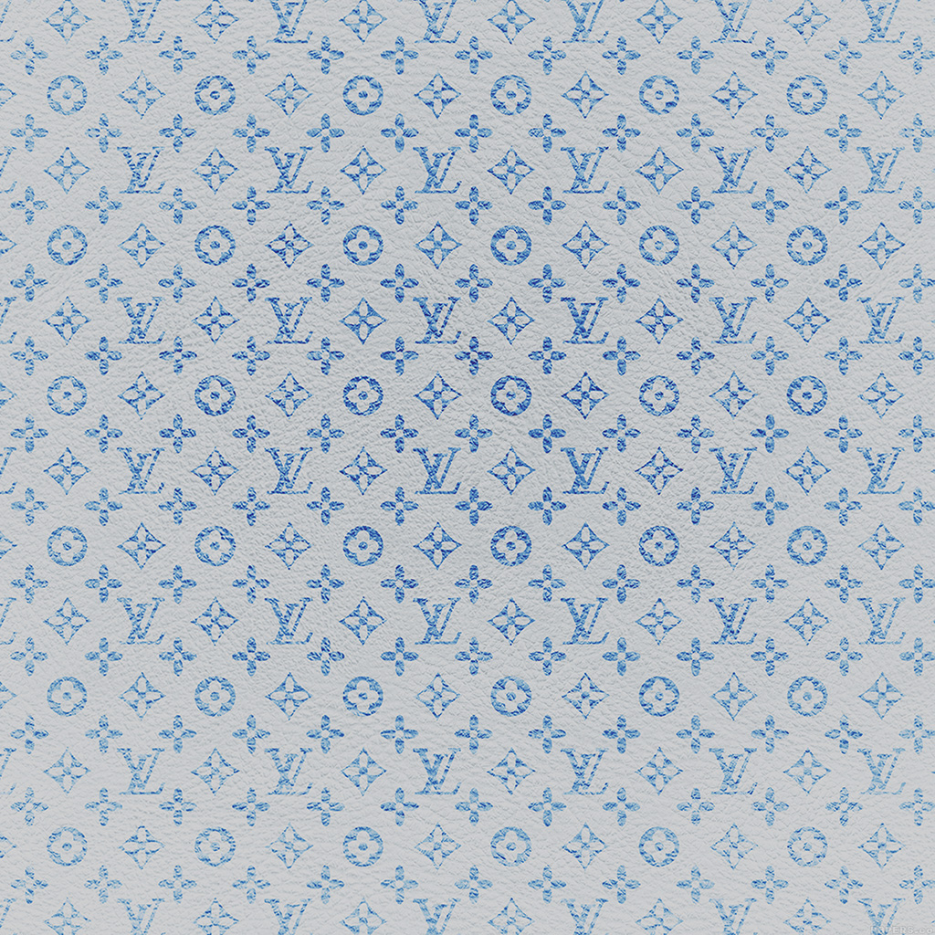 Papers Co Android Wallpaper Vf21 Louis Vuitton Blue Pattern Art