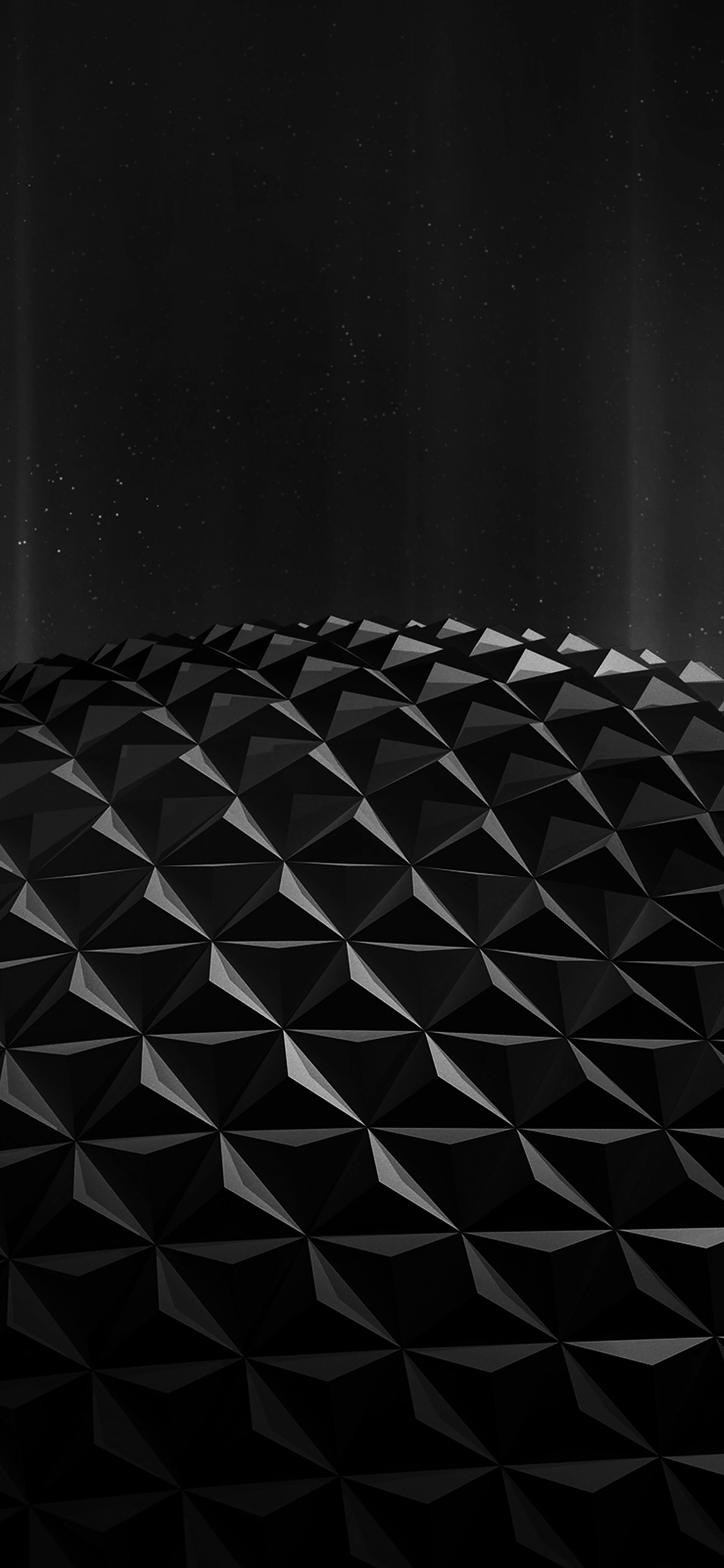 iPhoneXpapers.com-Apple-iPhone-wallpaper-vg76-polygon-planet-black-digital-art-pattern