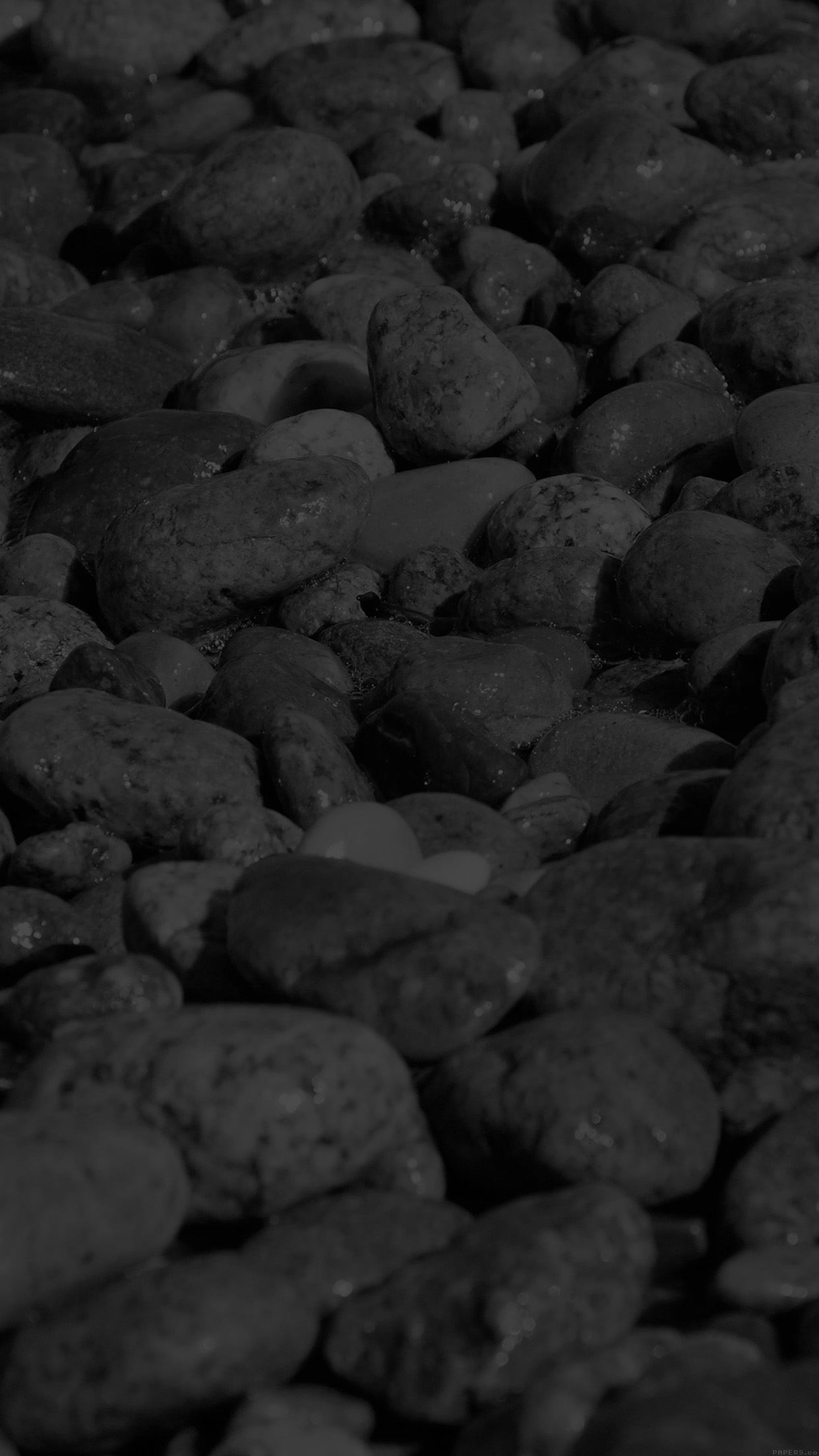 Vi74 Stone Rocks Beach Nature Pattern Dark Wallpaper