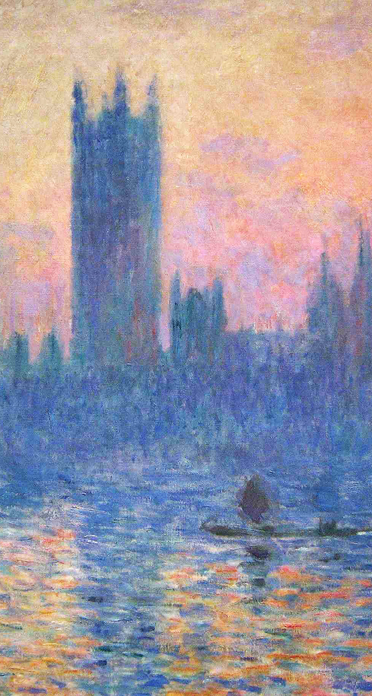 Freeios7 vj22 claude monet classic painting art sunset - Classic art wallpaper iphone 5 ...