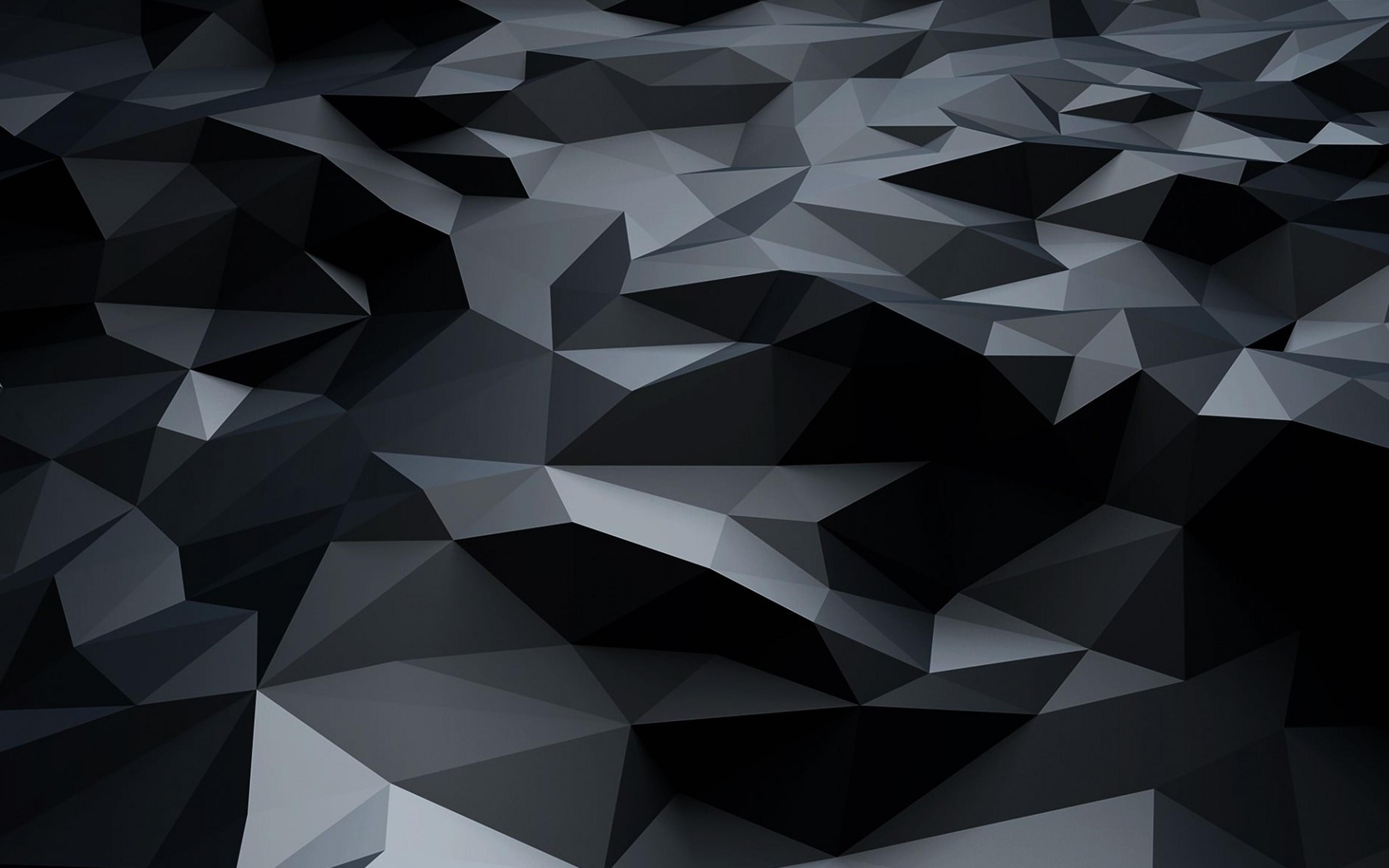 Vj27 Low Poly Art Dark Pattern