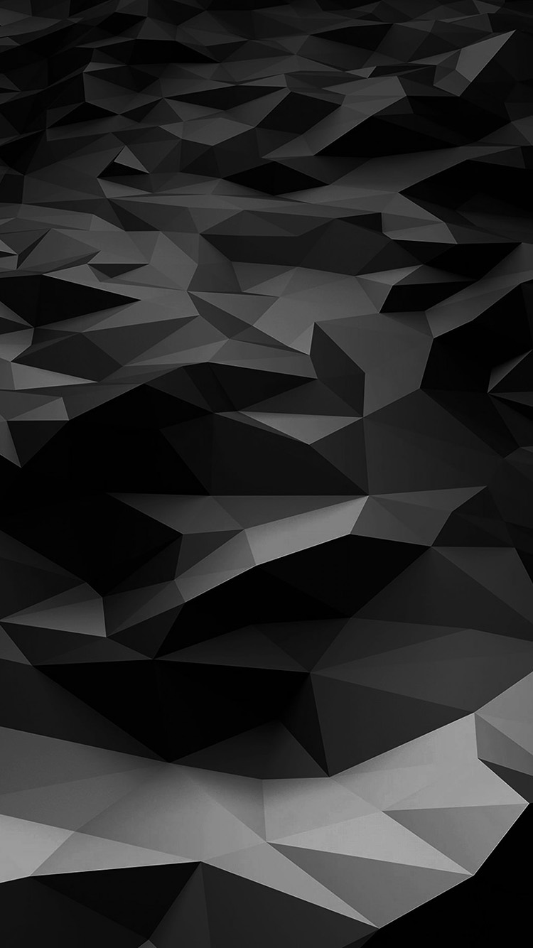 Papers.co-iPhone5-iphone6-plus-wallpaper-vj29-low-poly-art-dark-bw-pattern