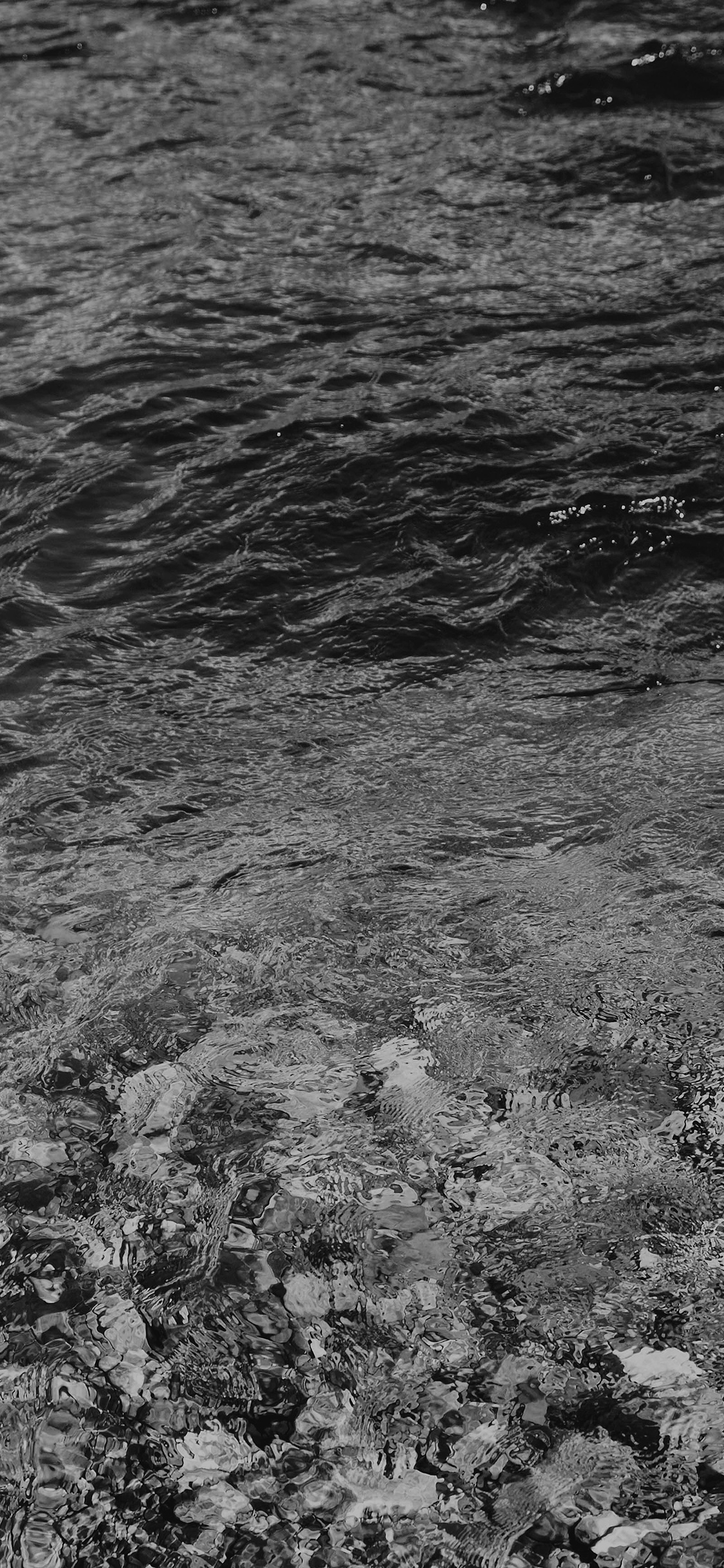 iPhoneXpapers.com-Apple-iPhone-wallpaper-vj55-water-ripples-sea-dark-bw-nature-pattern