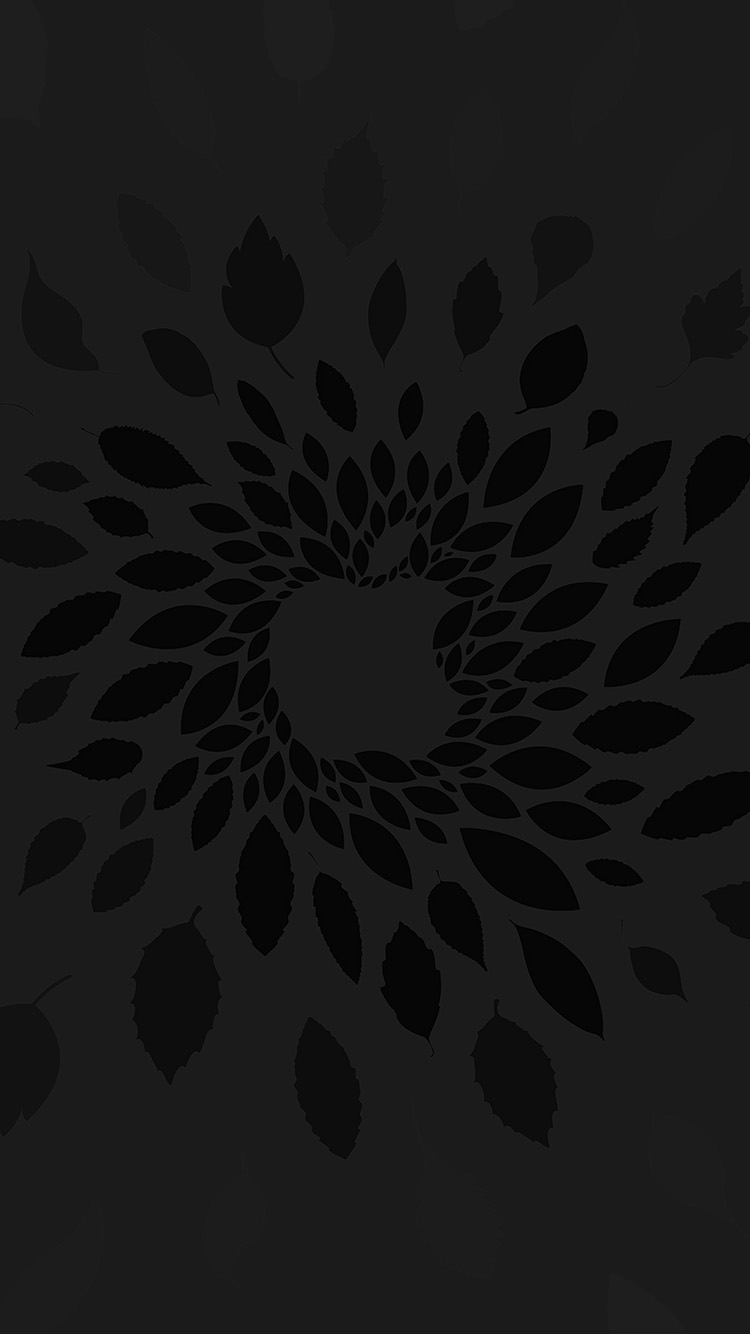 iPhone7papers.com-Apple-iPhone7-iphone7plus-wallpaper-vj79-apple-store-leafs-art-pattern-bw-dark