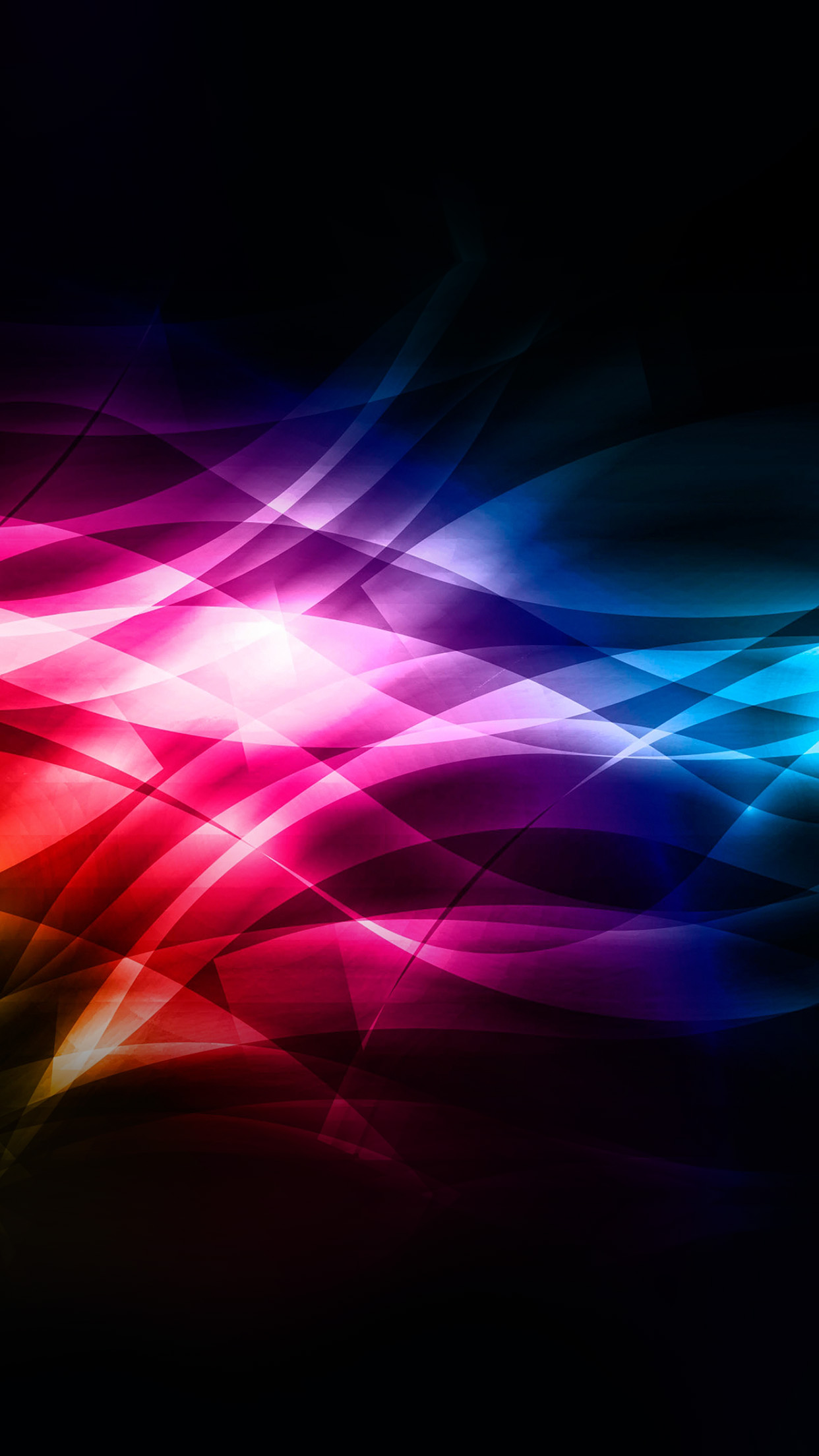 Vk15 Smoke Rainbow Abstract Lines Pattern Papersco