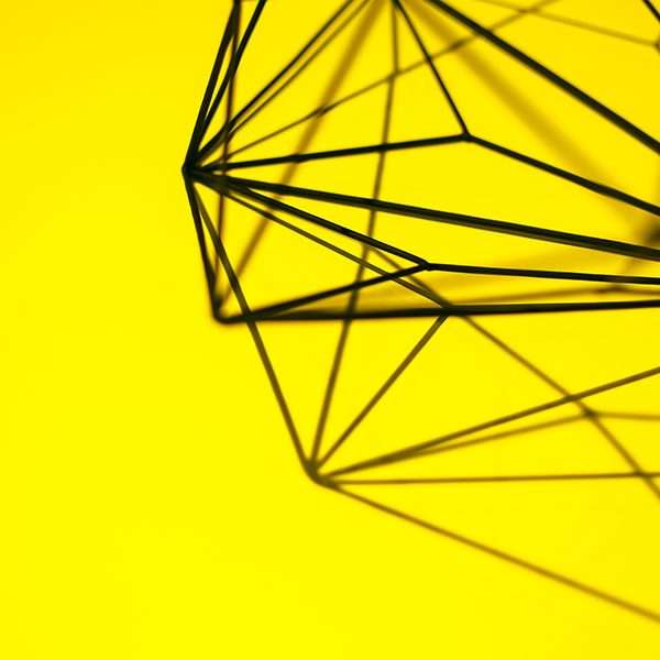 vk21 simple design deco yellow pattern