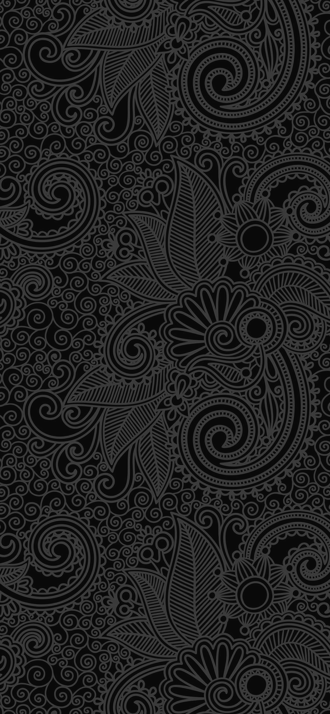 iPhoneXpapers.com-Apple-iPhone-wallpaper-vk29-wallpaper-design-flower-line-dark-bw-pattern