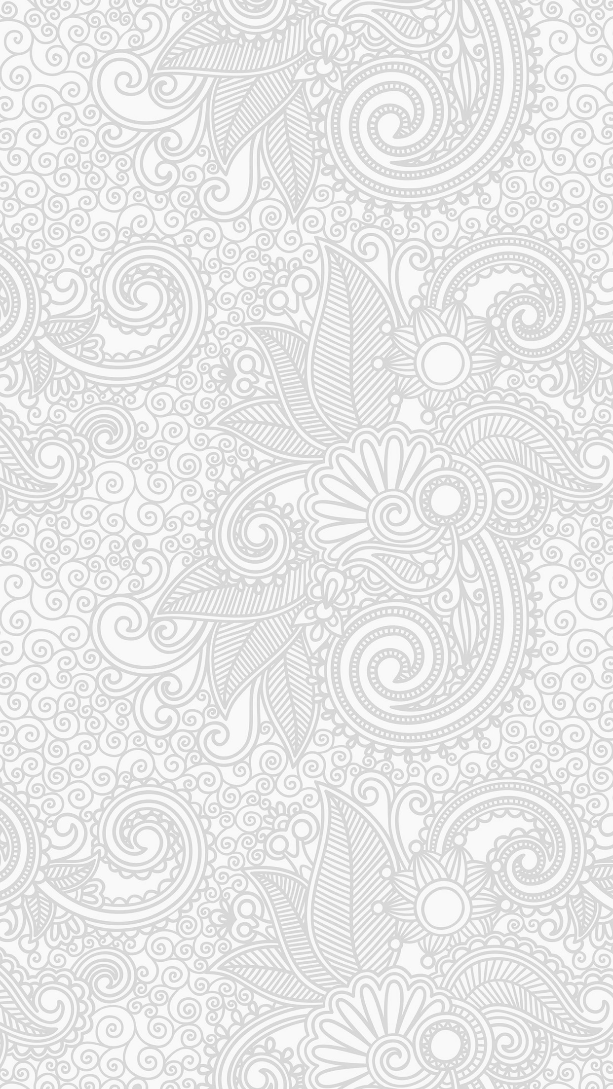Iphone7papers Vk30 Wallpaper Design Flower Line White Bw Pattern