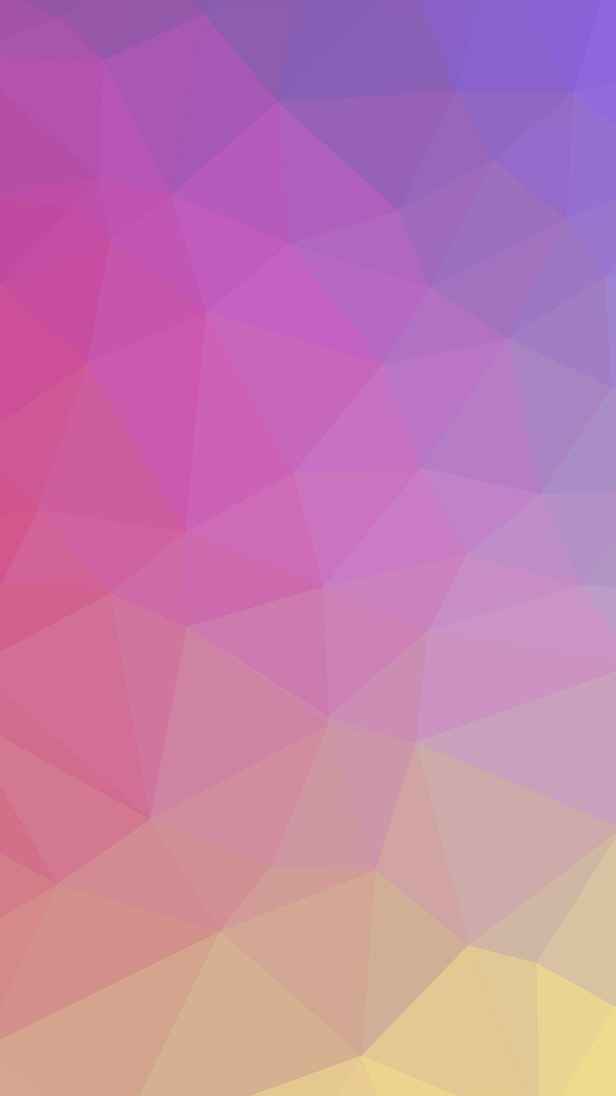 Papers Co Iphone Wallpaper Vk65 Samsung Galaxy Polyart Pastel Pink Yellow Pattern