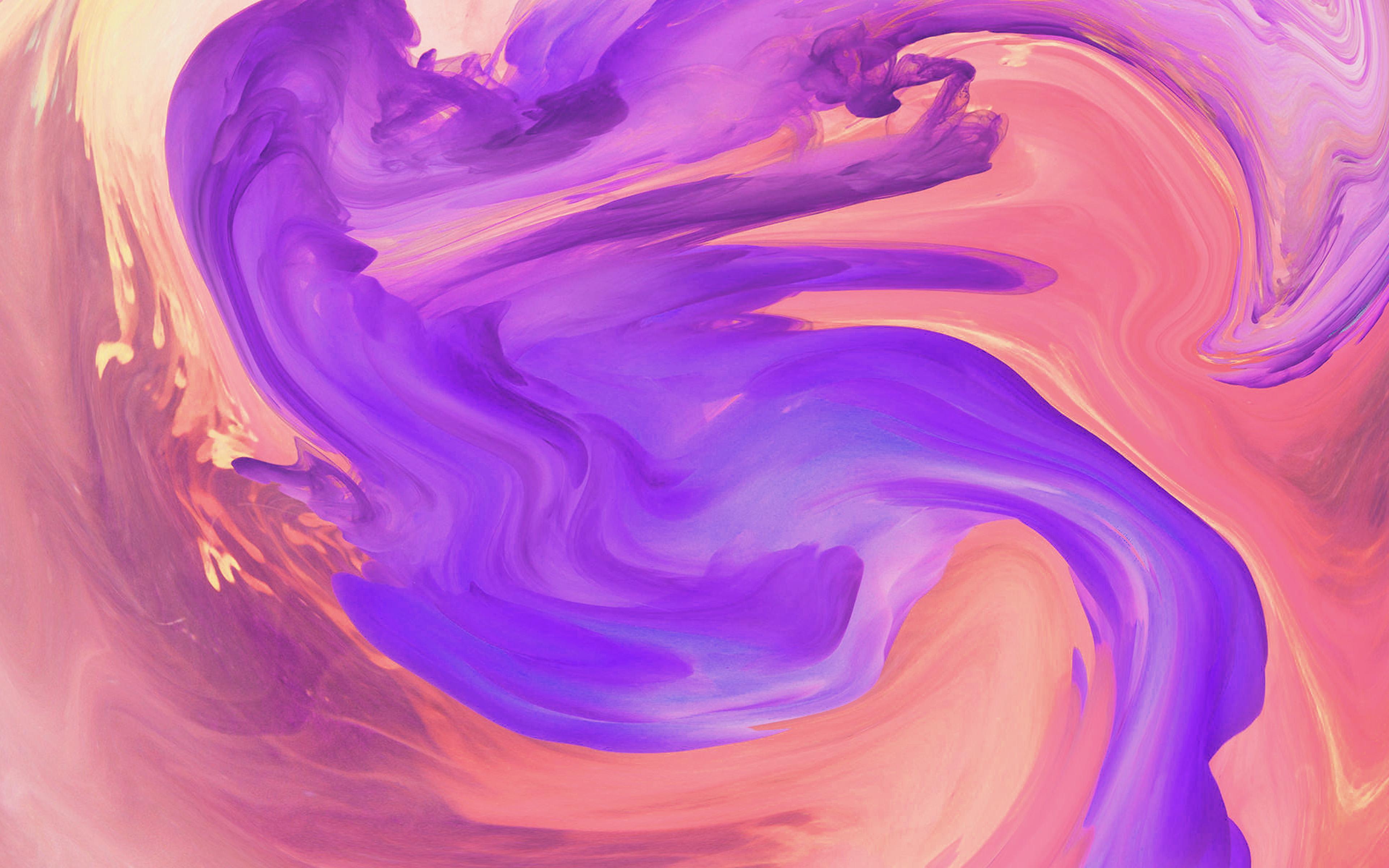 Vl08 Hurricane Swirl Abstract Art Paint Purple Pattern Wallpaper