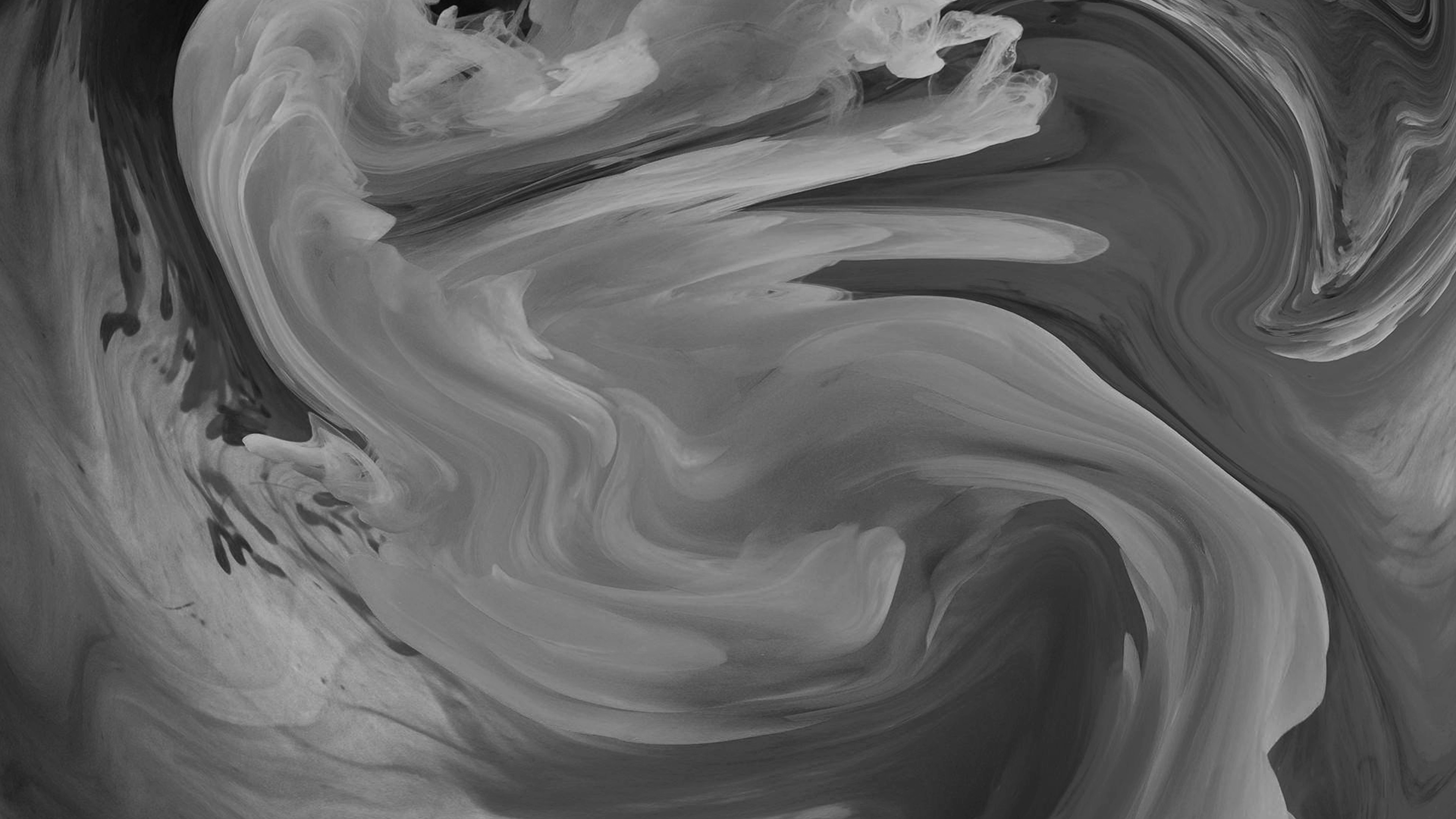 Vl09 Hurricane Swirl Abstract Art Paint Dark Bw Pattern