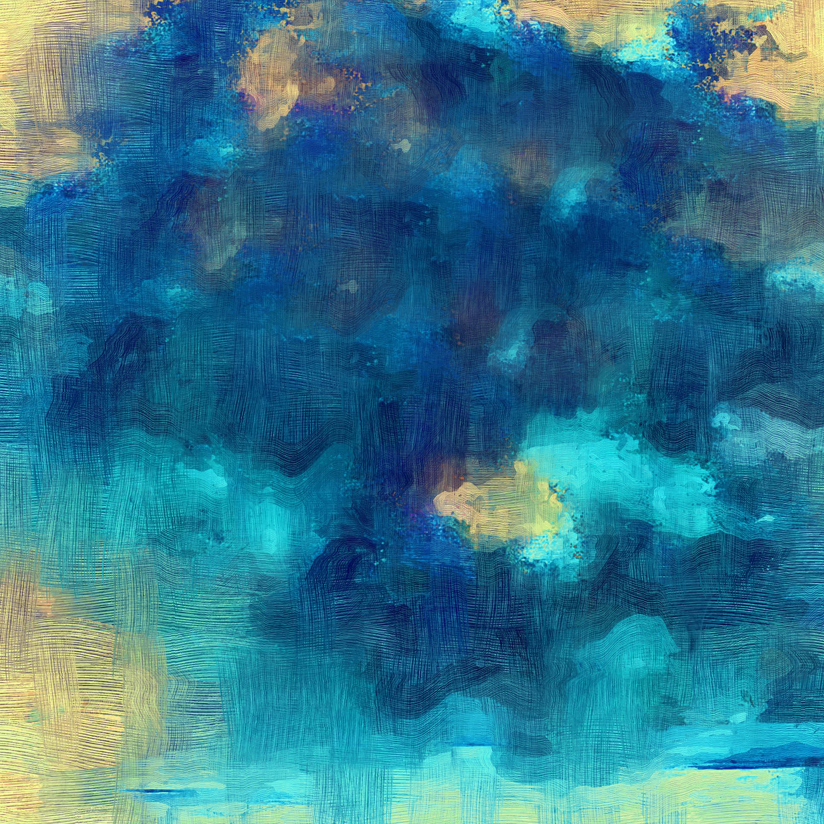 papers.co vl24 samsung galaxy blue texture art oil painting pattern 40 wallpaper