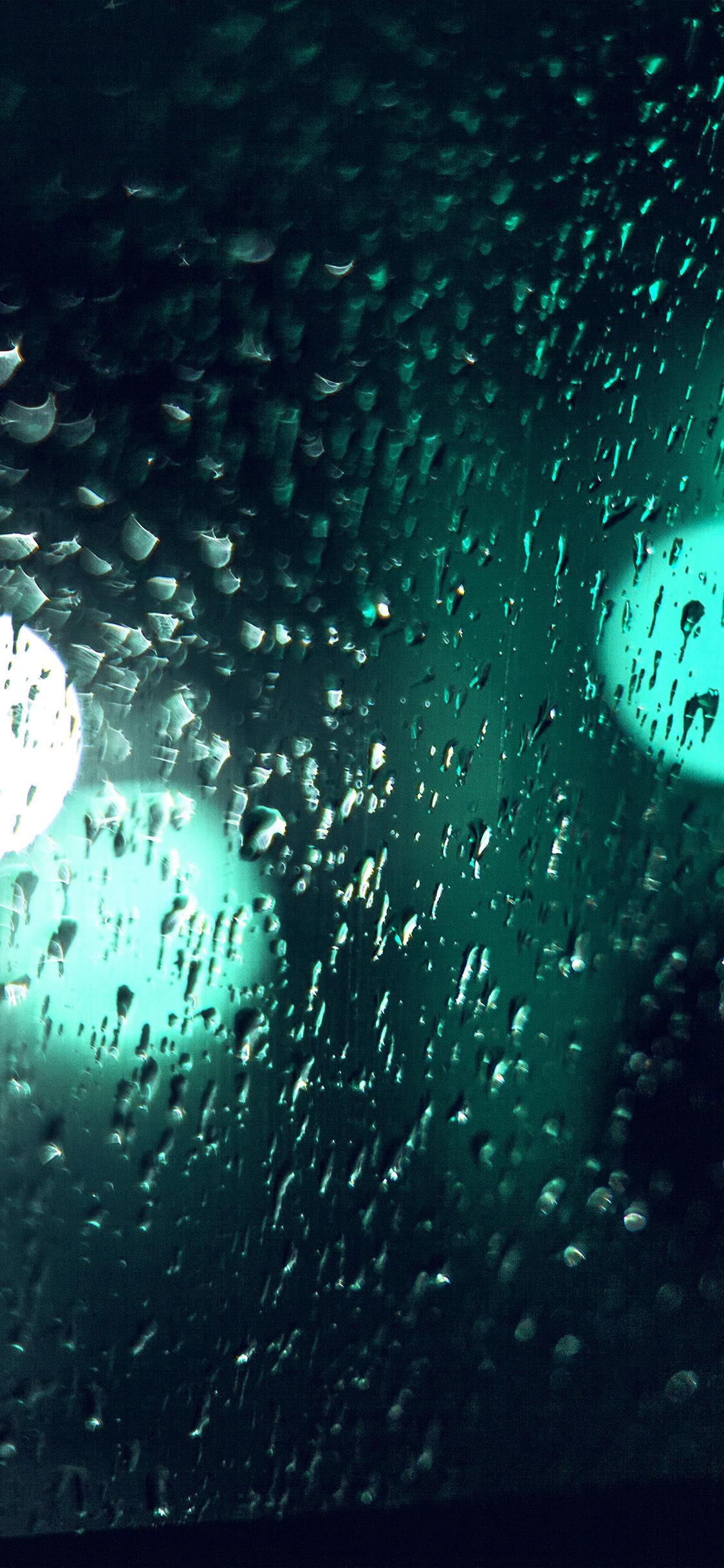 iPhonexpapers.com-Apple-iPhone-wallpaper-vl45-rainy-night-drops-bokeh-blue-green-light-pattern