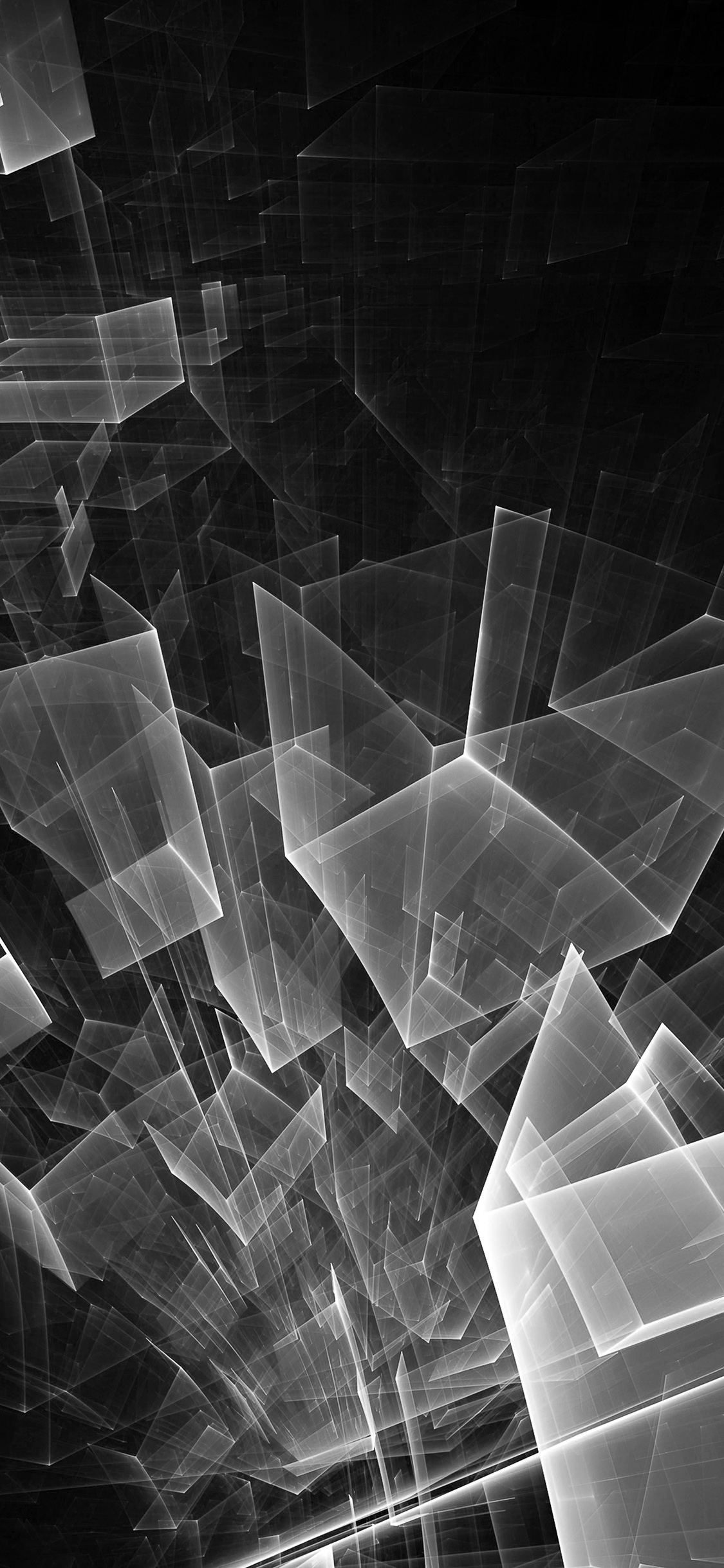 Iphonexpapers Com Iphone X Wallpaper Vl90 Abstract Bw Dark Cube Pattern