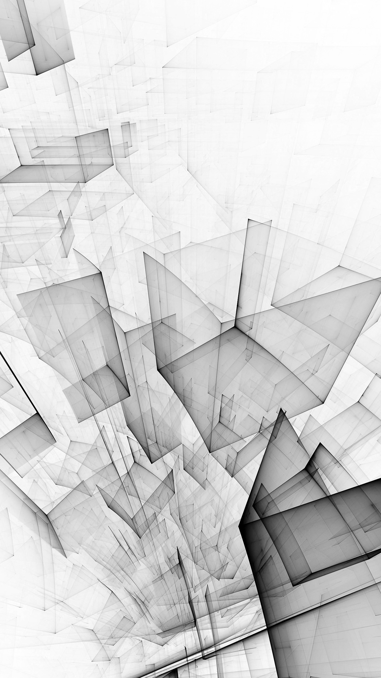 I Love Papers | vl91-abstract-bw-white-cube-pattern