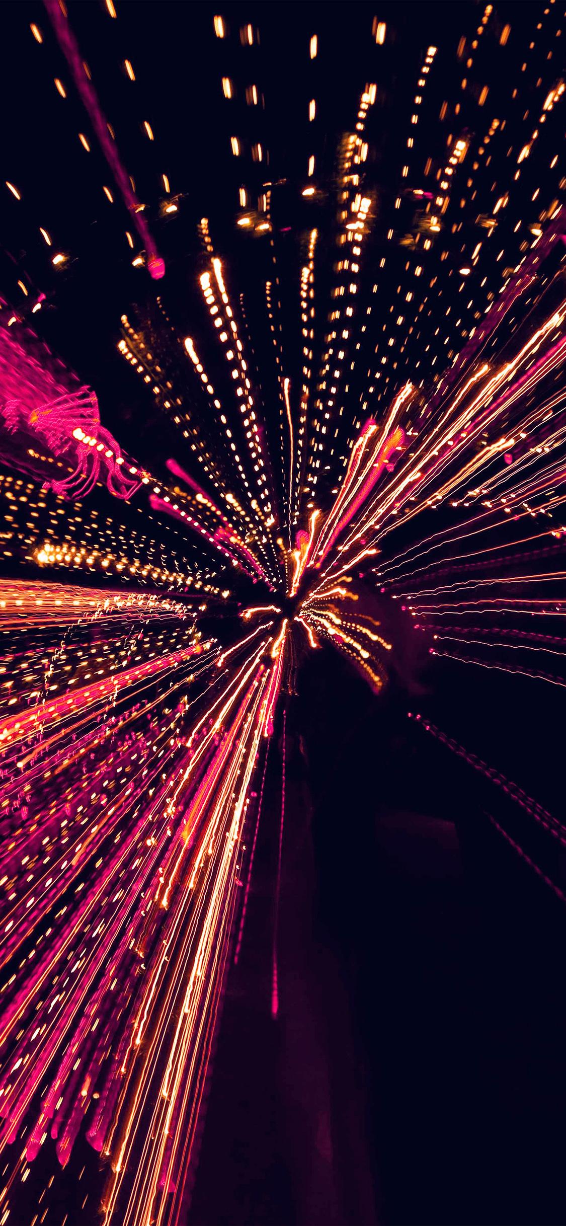 Vl98 Into Tunnel Lights Art Pattern Dark Pink Wallpaper