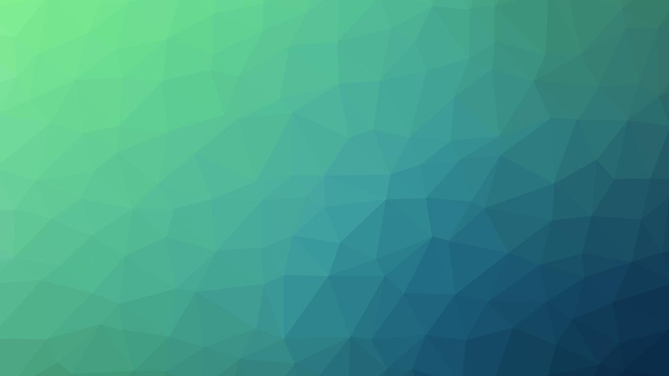 Vm29 Poly Art Abstract Blue Green Pattern Wallpaper